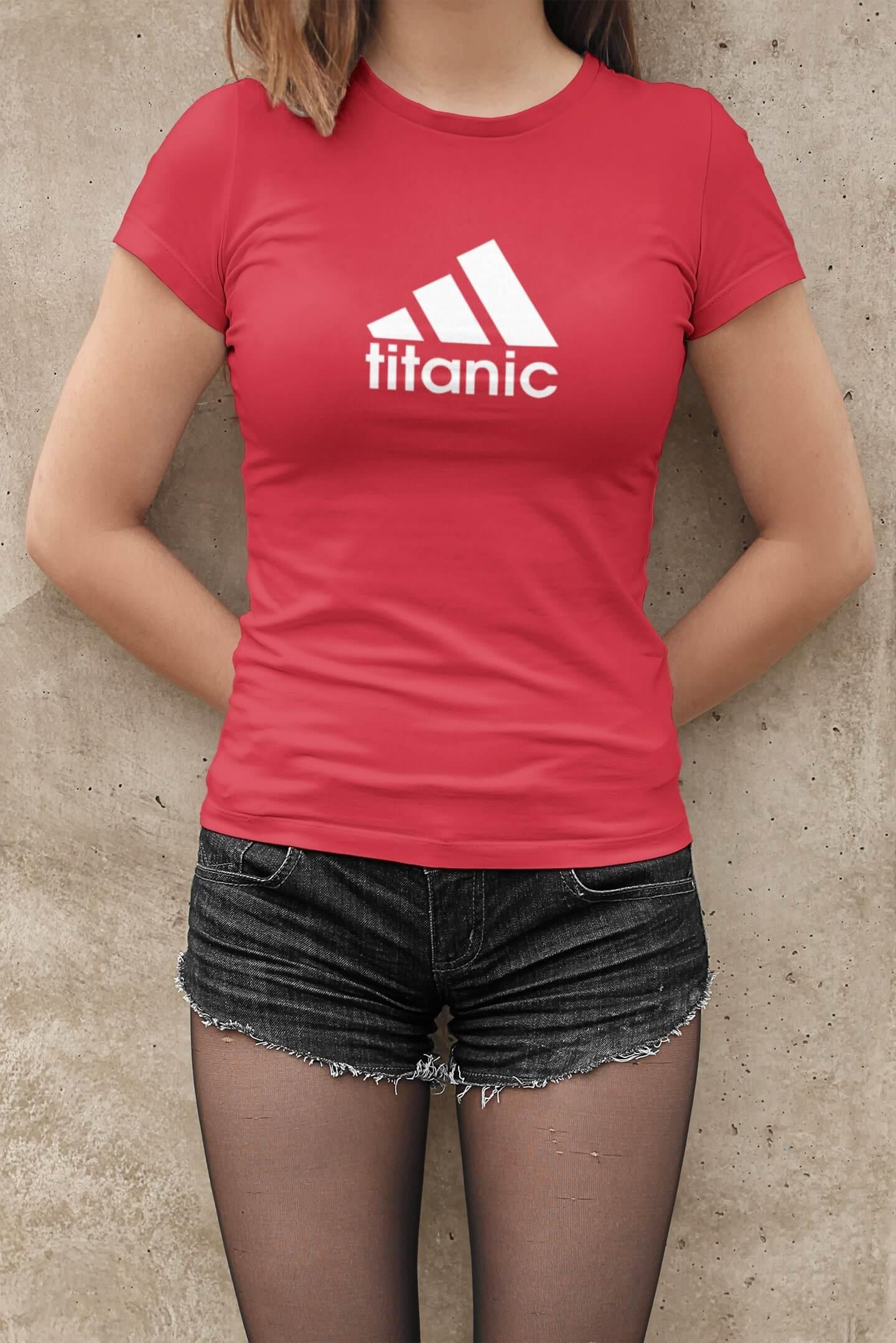 MMO Dámske tričko Titanic Vyberte farbu: Červená, Dámska veľkosť: M