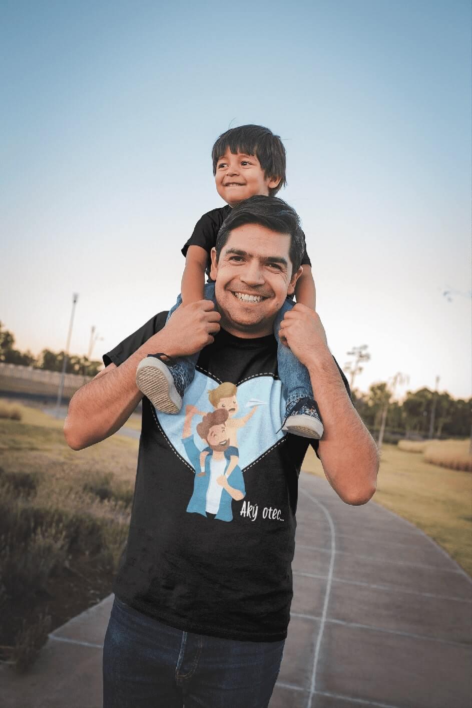 MMO Pánske tričko pre otca Aký otec taký syn Vyberte farbu: Čierna, Vyberte veľkosť: S