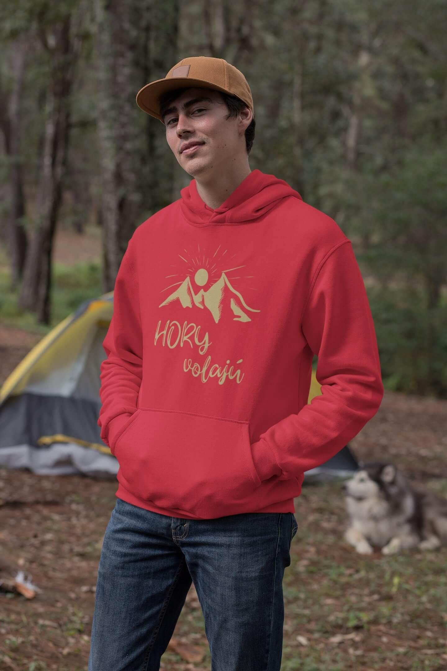 MMO Pánska mikina s kapucňou Hory volajú Pánska veľkosť: 2XL