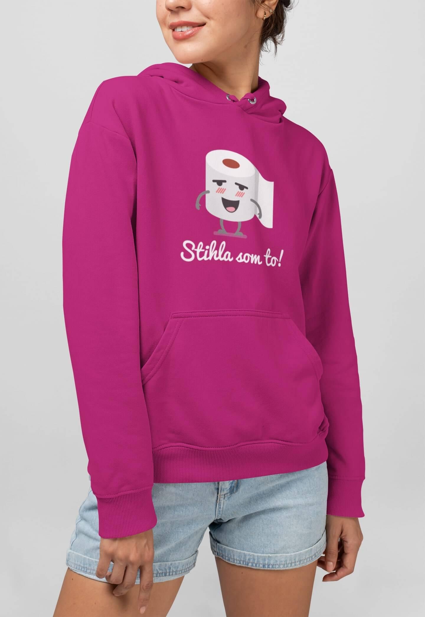 MMO Vtipná dámska mikina Stihla som to! Farba: Čierna, Vyberte farbu:: XL