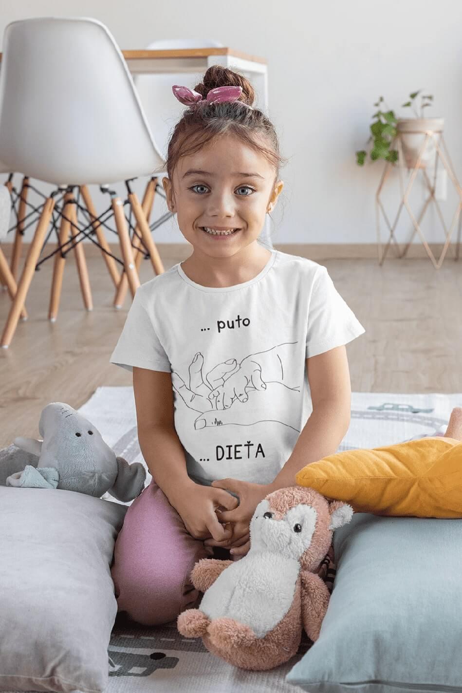 MMO Tričko pre dieťa Puto Vyberte farbu:: Biela, Detská veľkosť: 122/6 rokov