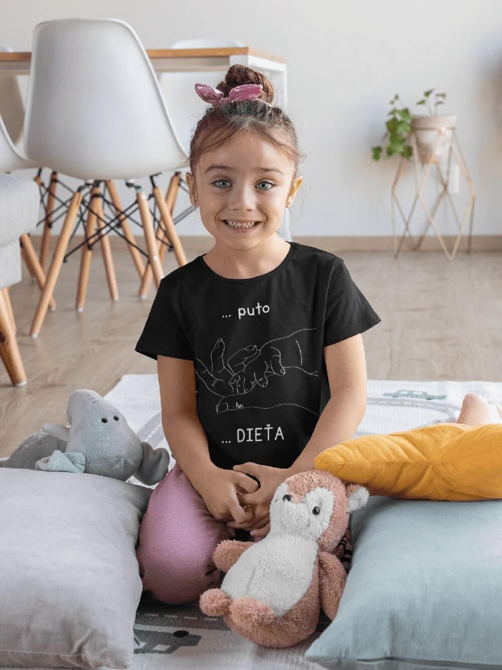 MMO Tričko pre dieťa Puto Vyberte farbu:: Čierna, Detská veľkosť: 122/6 rokov