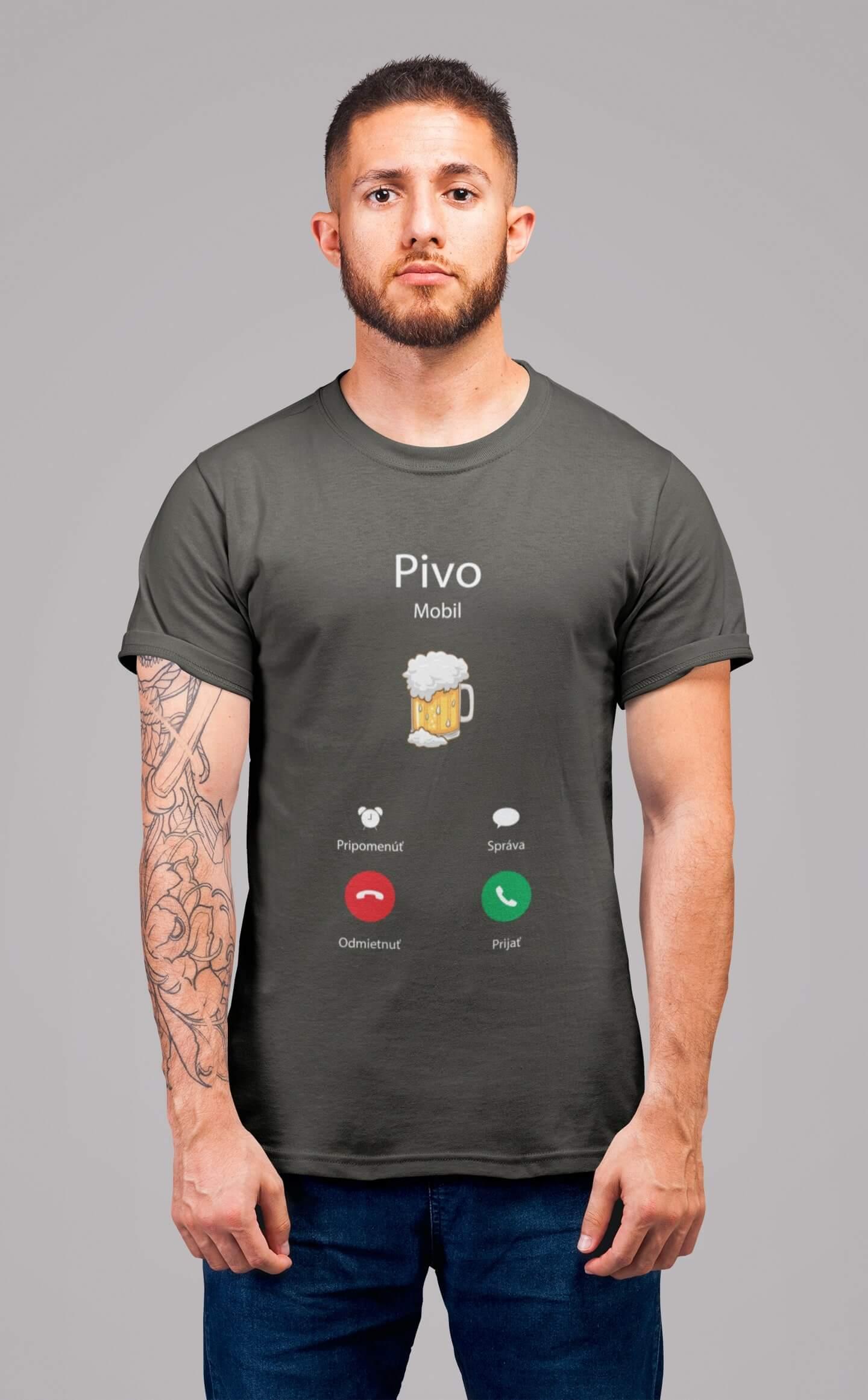 MMO Pánske tričko Volá Vyberte farbu: Tmavá bridlica, Vyberte veľkosť: XL
