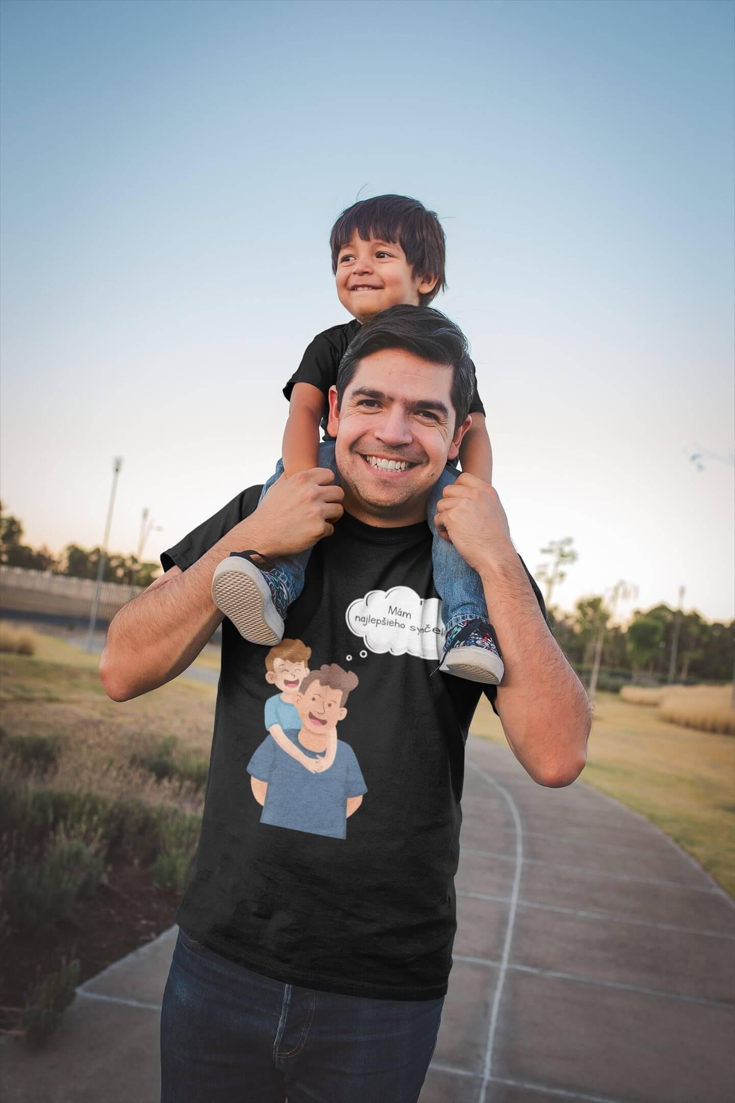 MMO Pánske tričko pre otca Mám najlepšieho synčeka Vyberte farbu: Čierna, Vyberte veľkosť: S