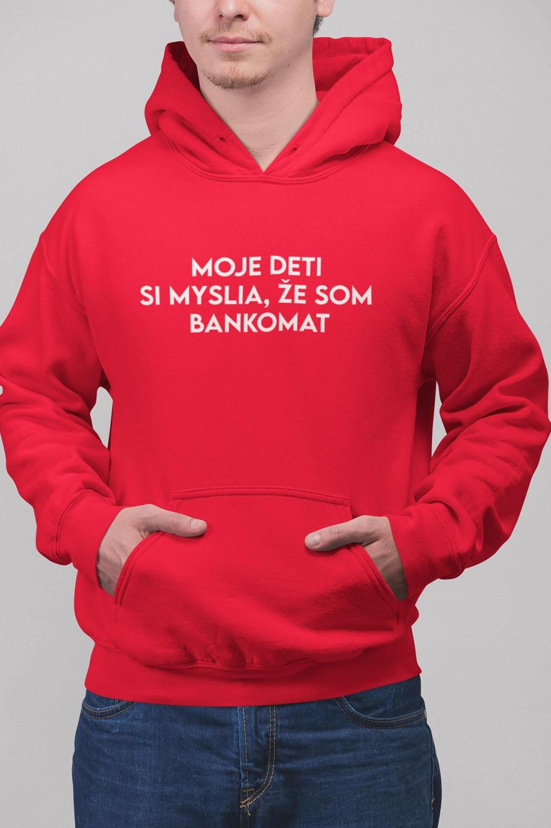 MMO Pánska mikina Bankomat Farba: Čierna, Vyberte farbu:: 2XL