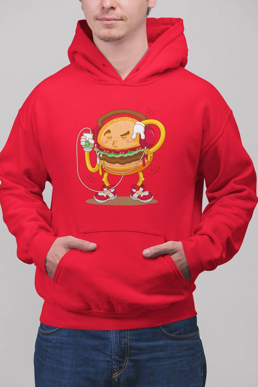 MMO Pánska mikina Hamburger Farba: Čierna, Vyberte farbu:: 2XL
