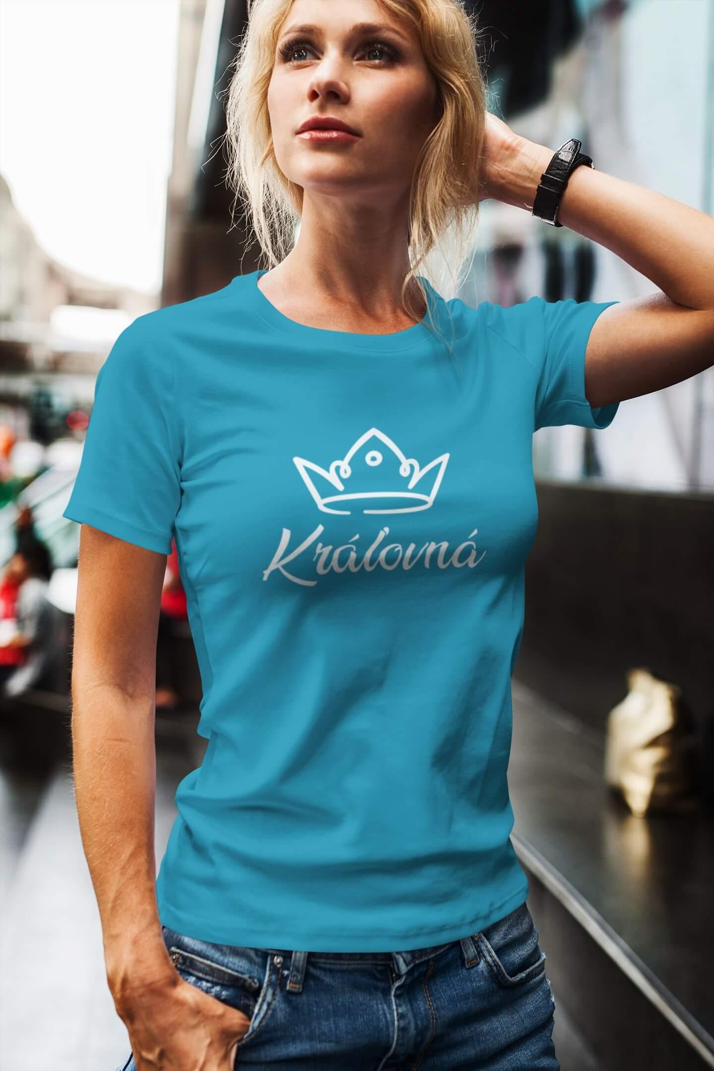 MMO Dámske tričko pre mamu Kráľovská rodina Vyberte farbu: Tyrkysová, Vyberte veľkosť: L