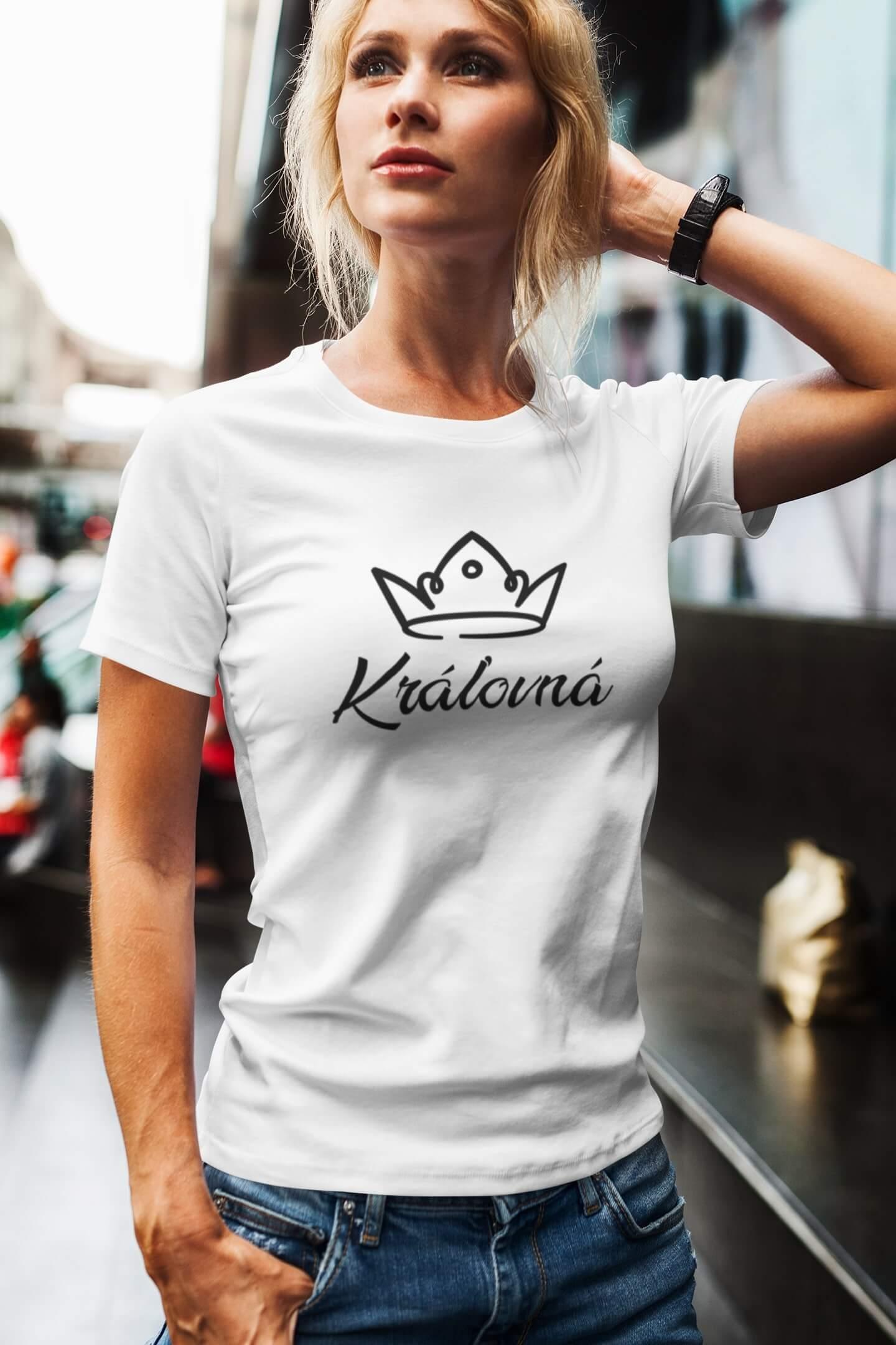 MMO Dámske tričko pre mamu Kráľovská rodina Vyberte farbu: Biela, Vyberte veľkosť: L