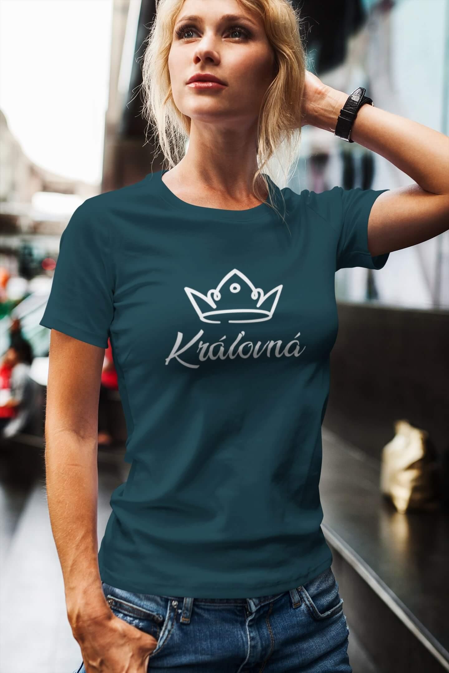 MMO Dámske tričko pre mamu Kráľovská rodina Vyberte farbu: Petrolejová modrá, Vyberte veľkosť: L