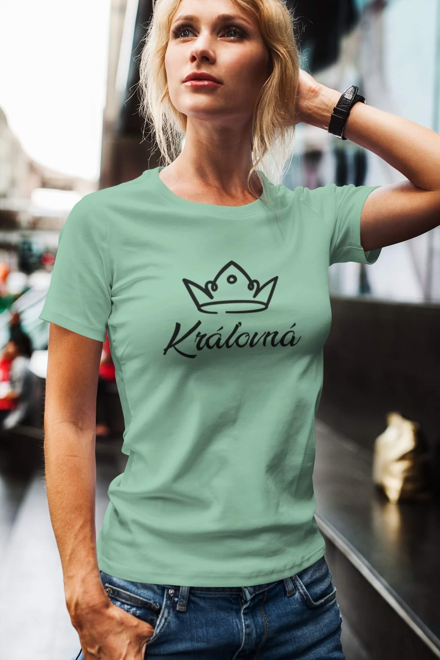 MMO Dámske tričko pre mamu Kráľovská rodina Vyberte farbu: Mätová, Vyberte veľkosť: L