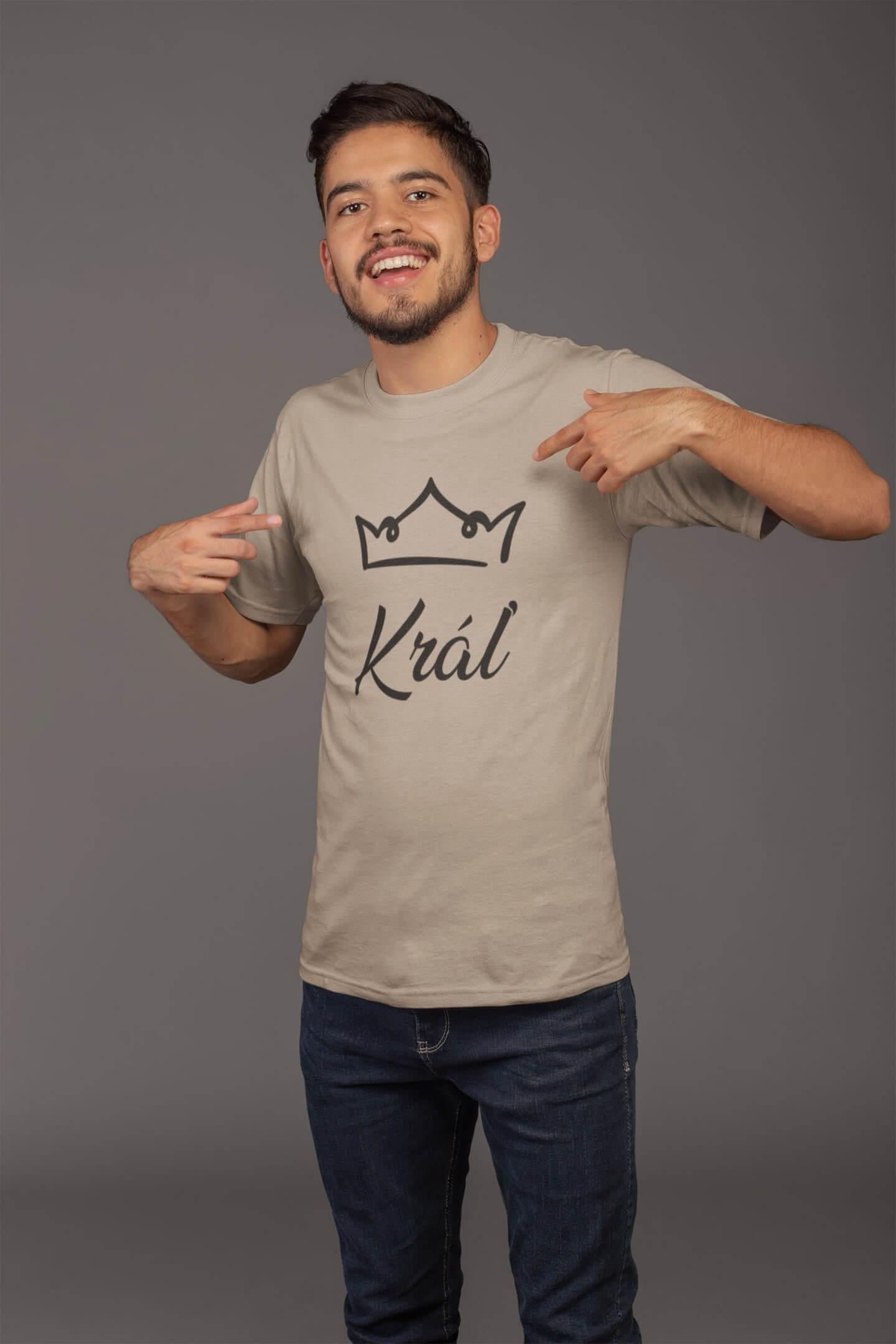 MMO Pánske tričko pre otca Kráľovská rodina Vyberte farbu: Piesková, Vyberte veľkosť: XL