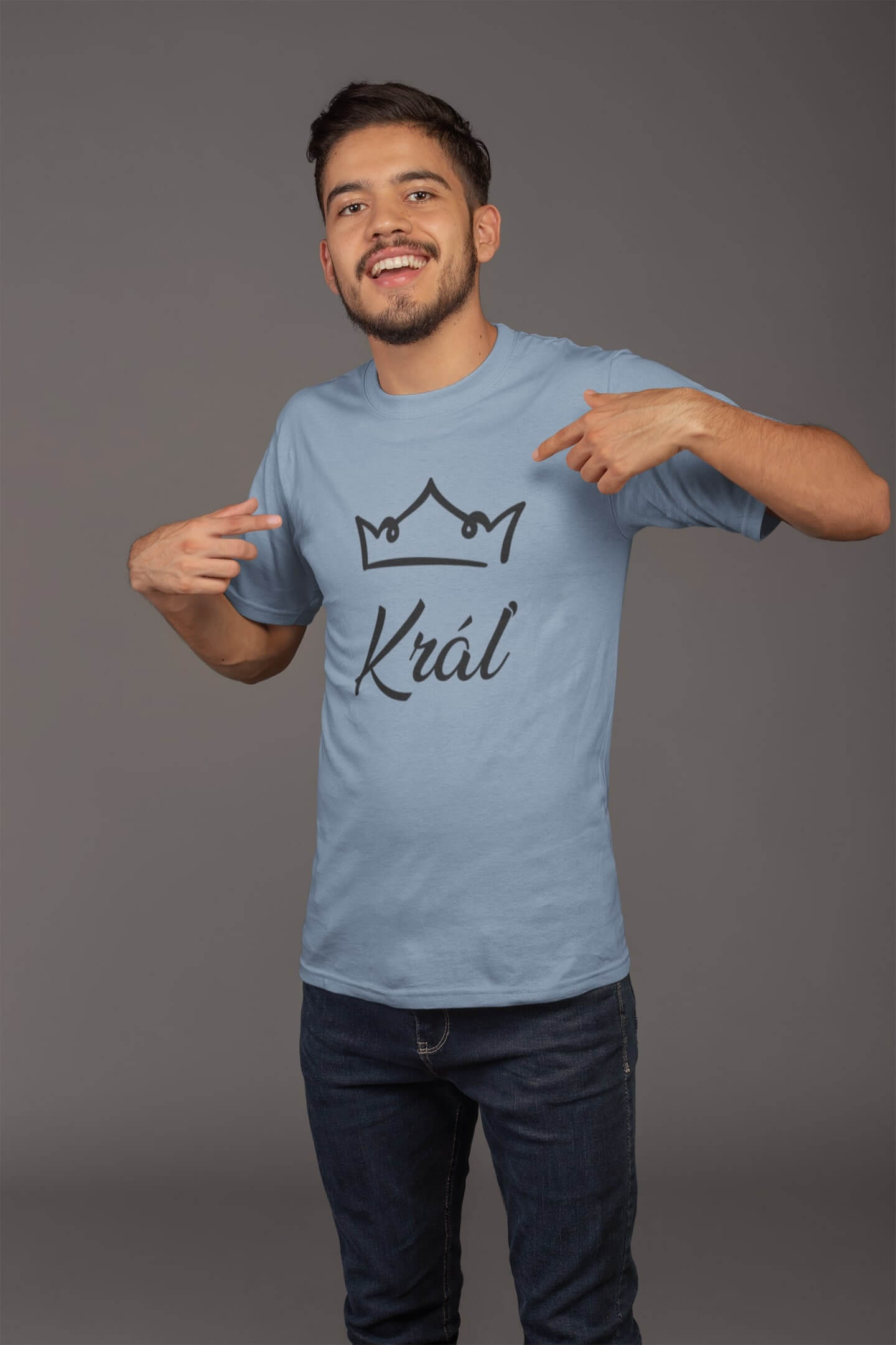 MMO Pánske tričko pre otca Kráľovská rodina Vyberte farbu: Nebeská modrá, Vyberte veľkosť: XL