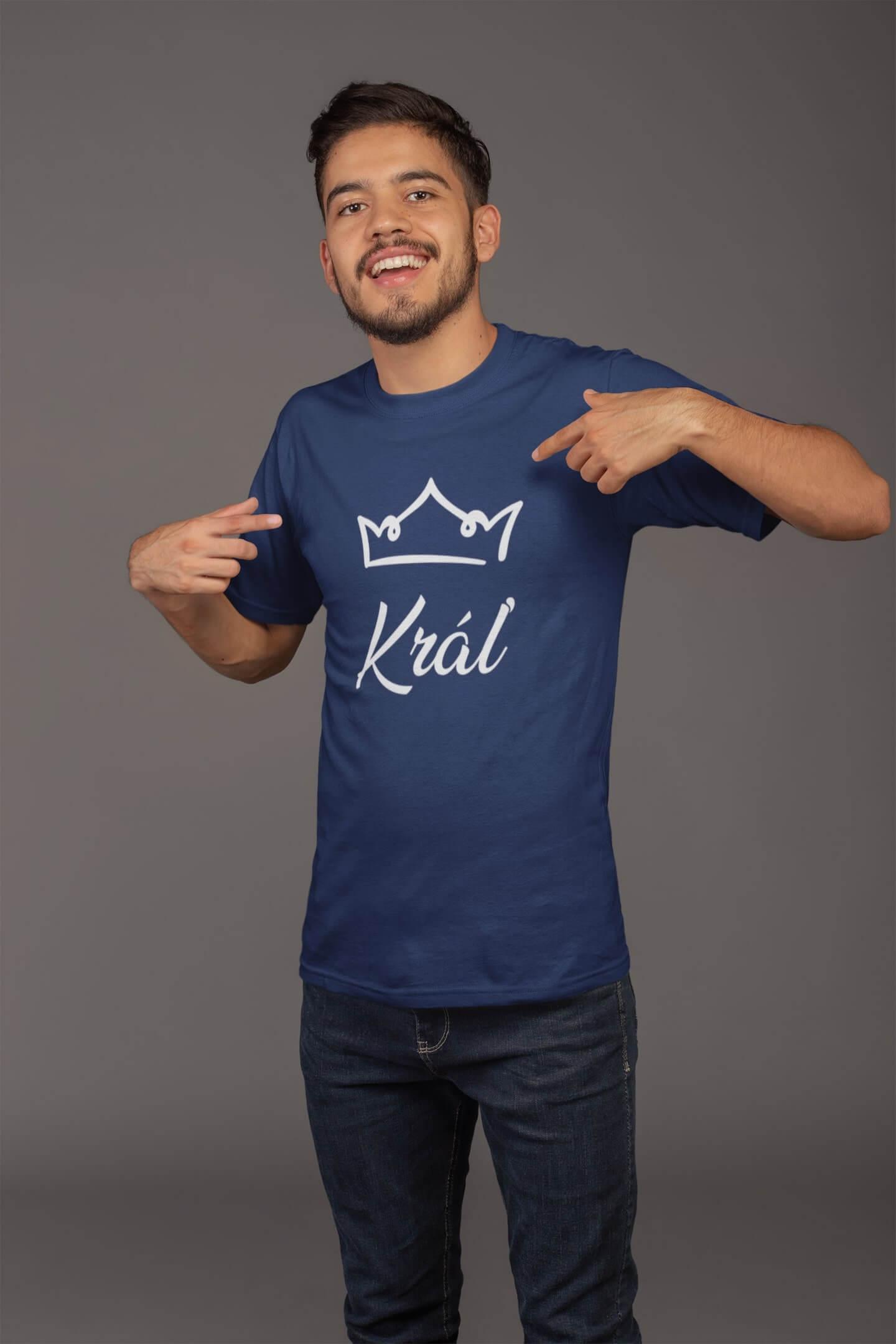 MMO Pánske tričko pre otca Kráľovská rodina Vyberte farbu: Polnočná modrá, Vyberte veľkosť: XL