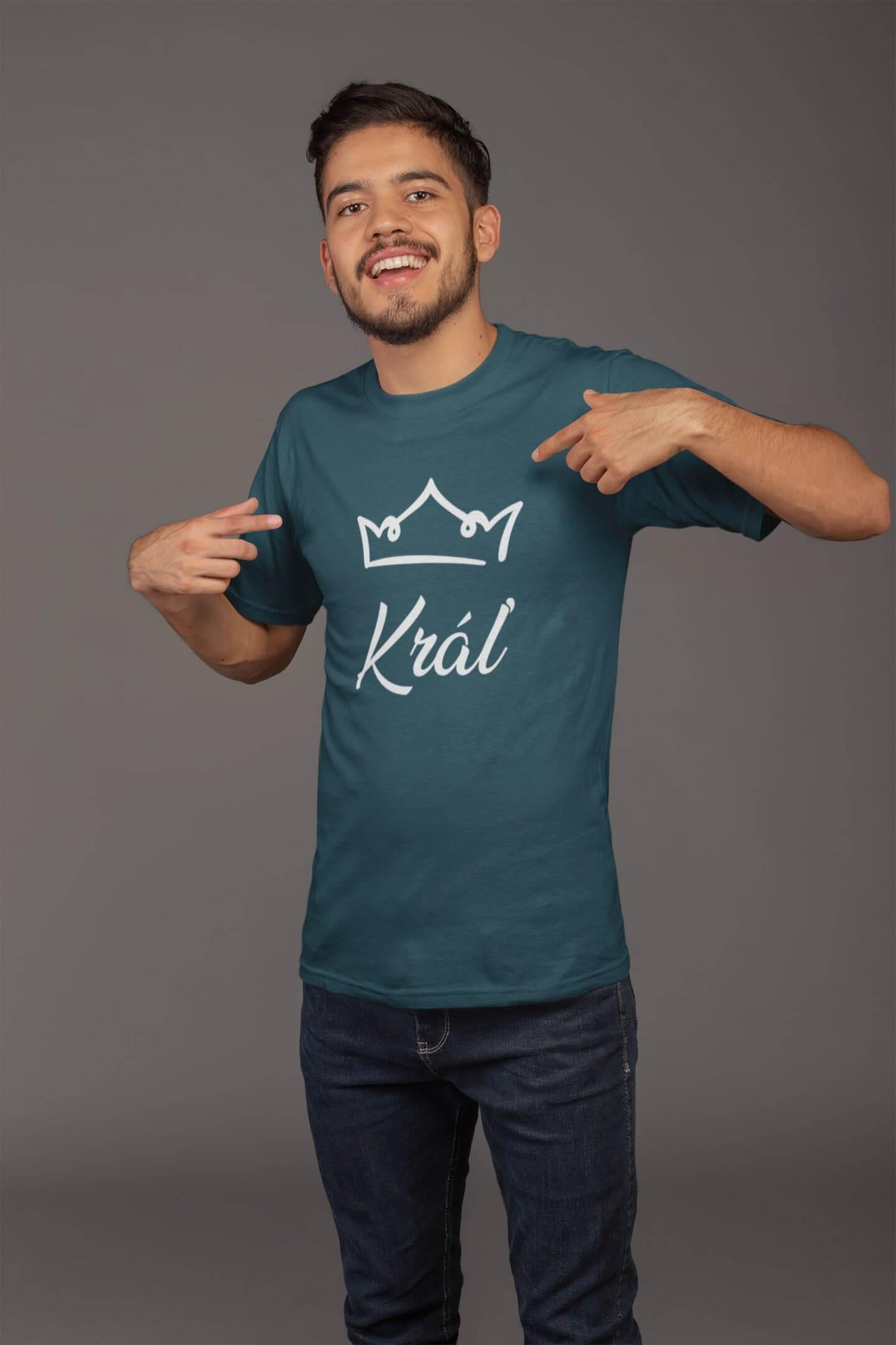 MMO Pánske tričko pre otca Kráľovská rodina Vyberte farbu: Petrolejová modrá, Vyberte veľkosť: XL