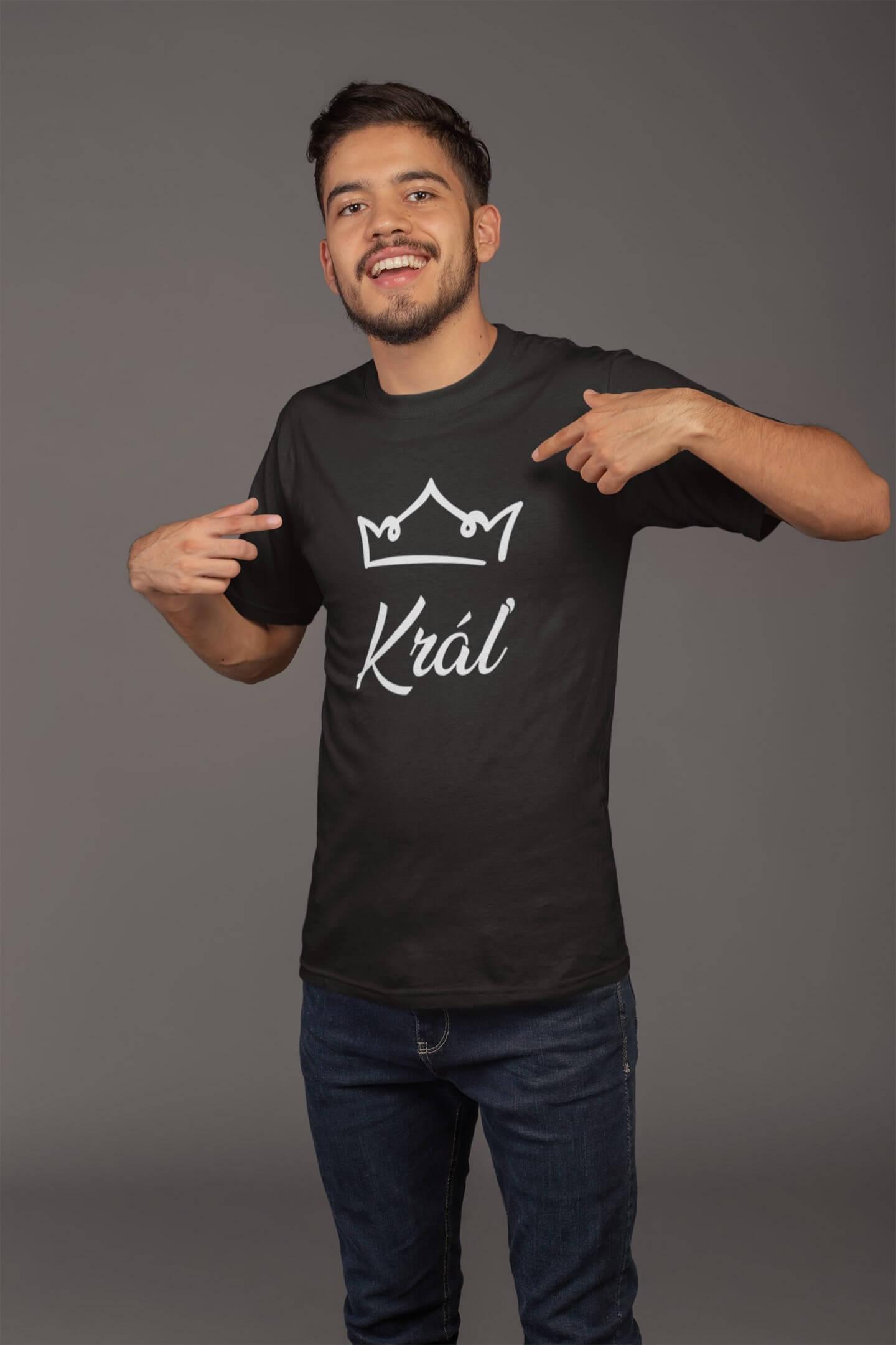 MMO Pánske tričko pre otca Kráľovská rodina Vyberte farbu: Čierna, Vyberte veľkosť: S