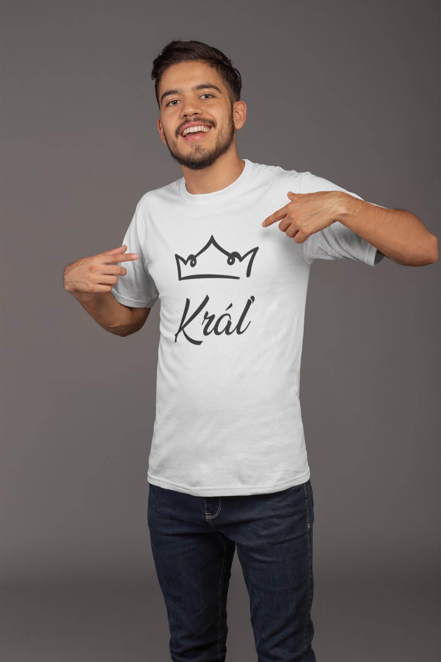 MMO Pánske tričko pre otca Kráľovská rodina Vyberte farbu: Biela, Vyberte veľkosť: XL