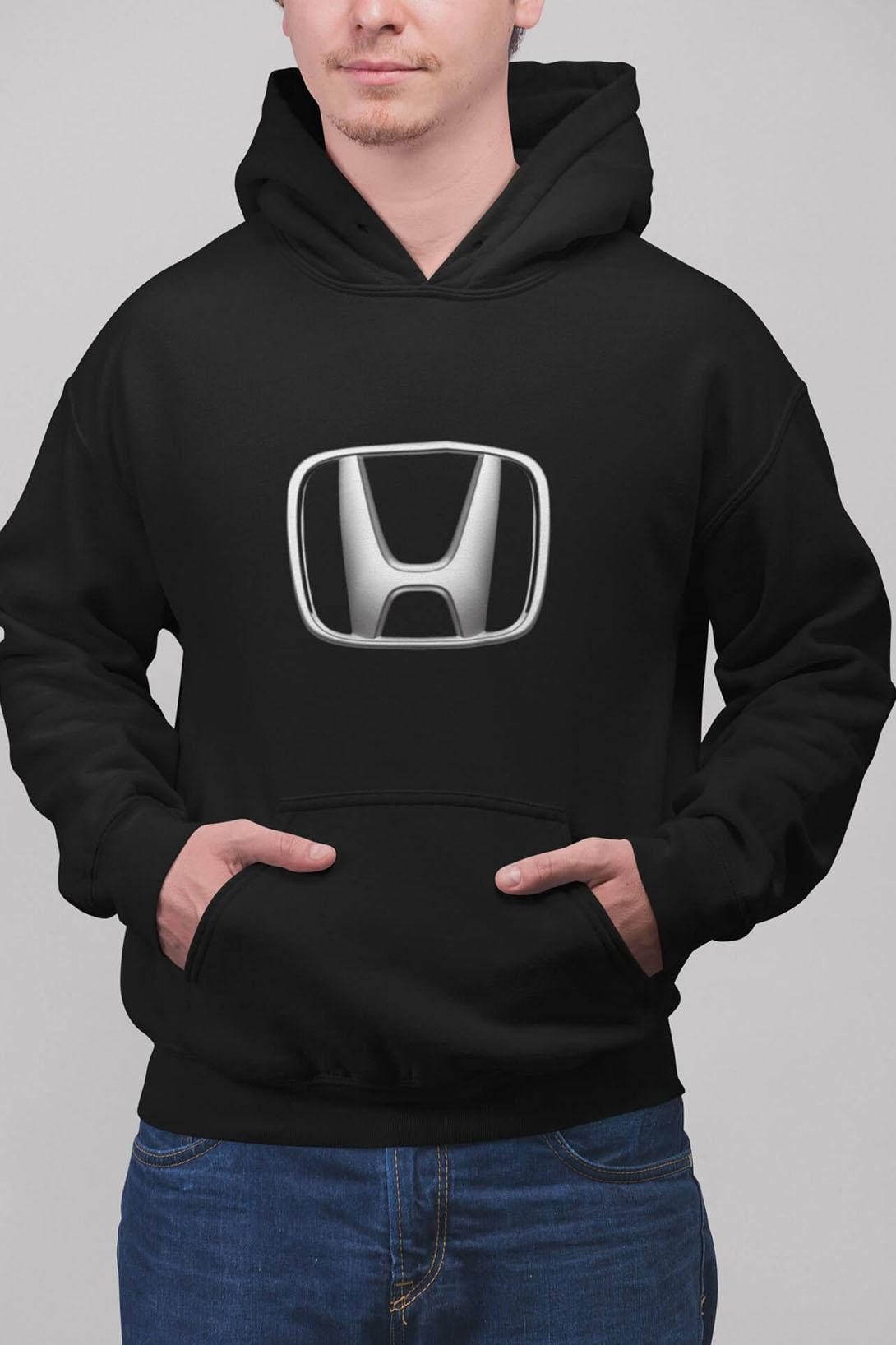 MMO Pánska mikina s logom auta Honda Farba: Čierna, Vyberte farbu:: 2XL