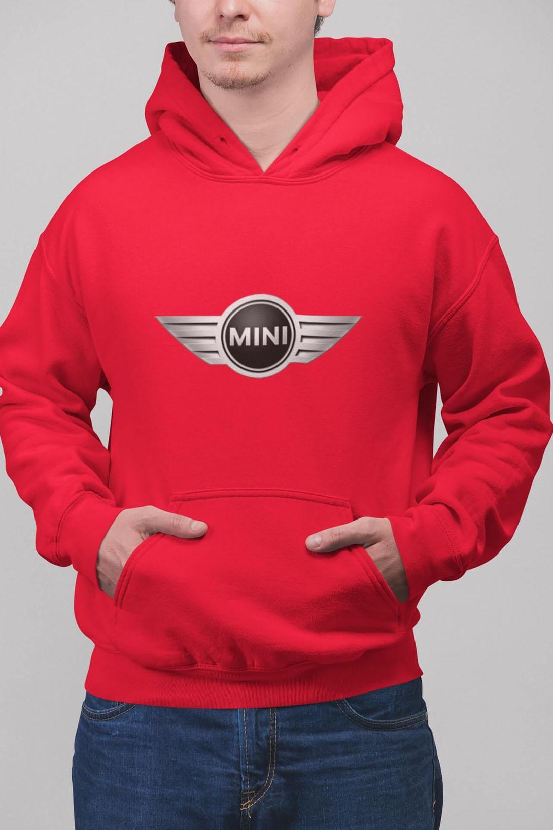 MMO Pánska mikina s logom auta Mini Farba: Čierna, Vyberte farbu:: 2XL