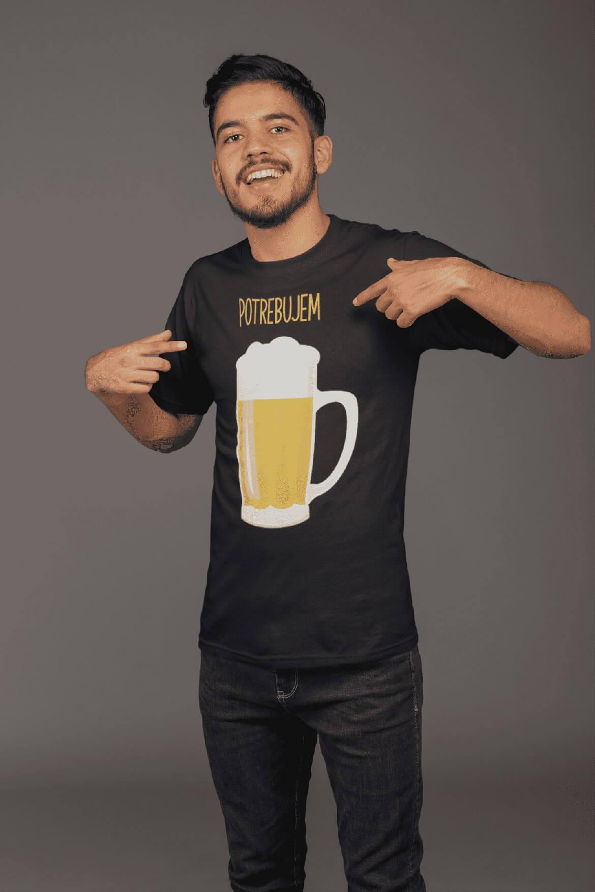 MMO Pánske tričko pre otca Potrebujem Vyberte farbu: Čierna, Vyberte veľkosť: S