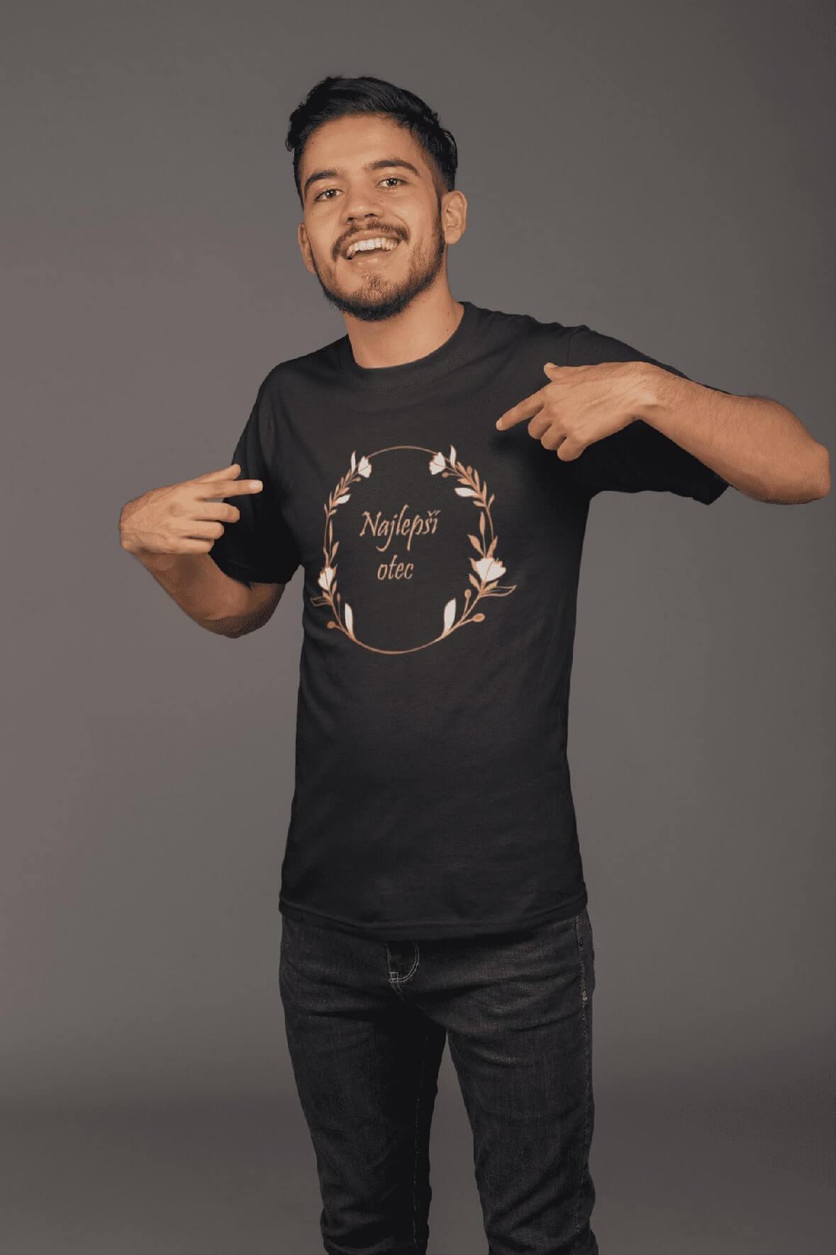 MMO Pánske tričko pre otca Najlepší otec Vyberte farbu: Čierna, Vyberte veľkosť: S