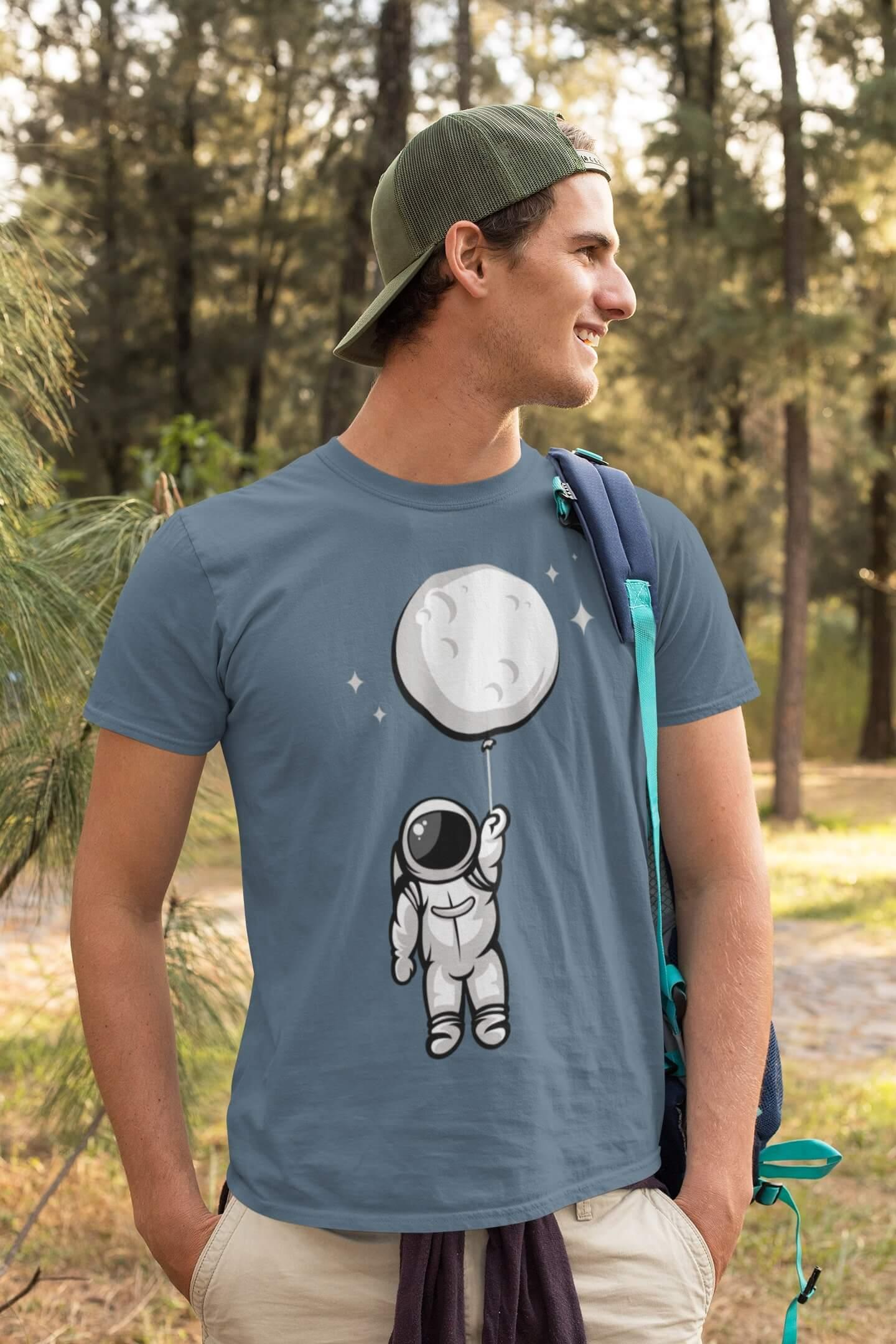MMO Pánske tričko Astronaut Vyberte farbu: Denim, Vyberte veľkosť: XS