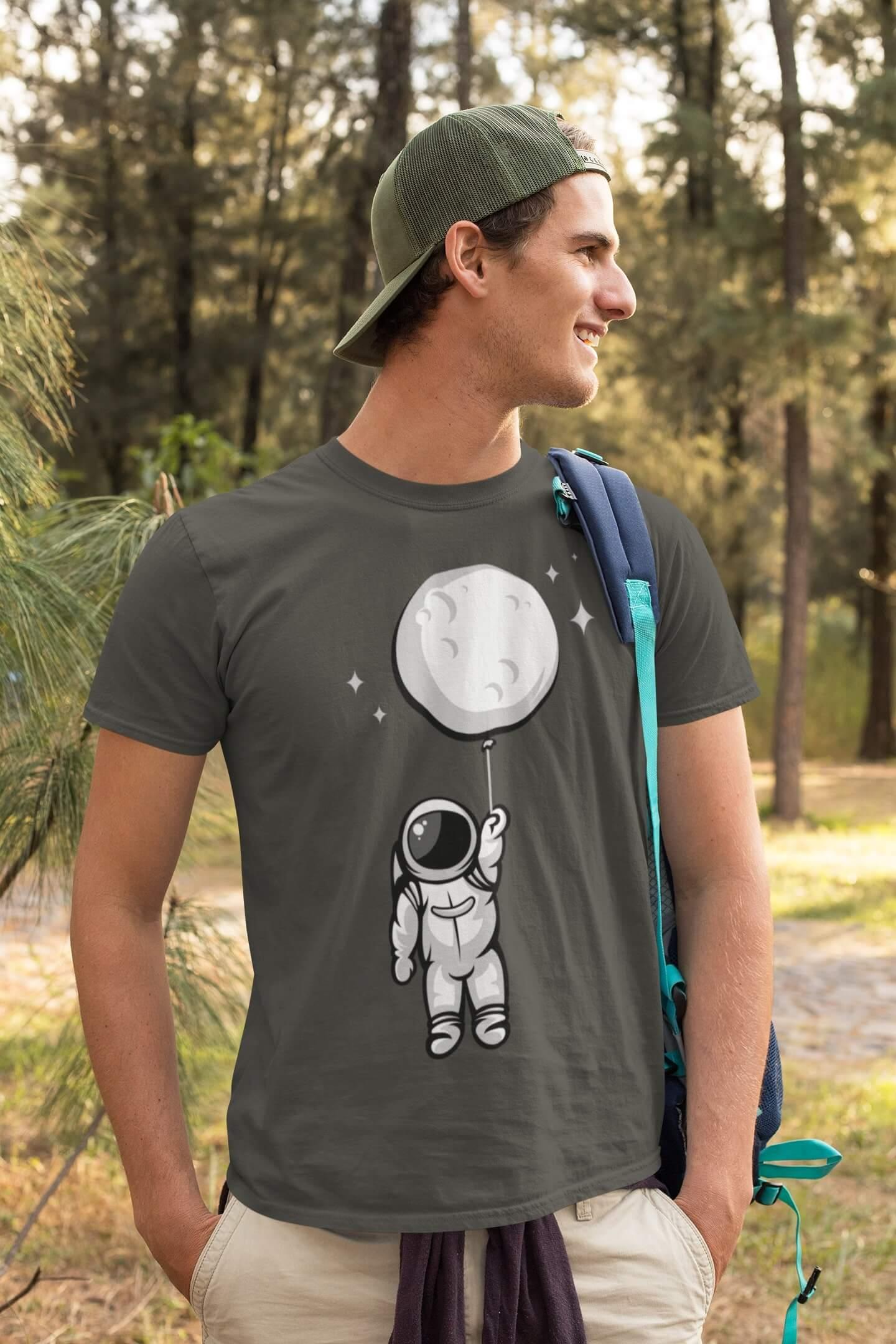 MMO Pánske tričko Astronaut Vyberte farbu: Tmavá bridlica, Vyberte veľkosť: XL
