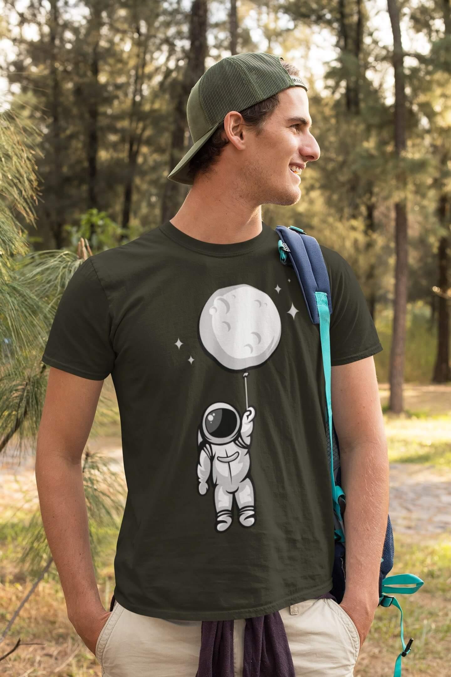 MMO Pánske tričko Astronaut Vyberte farbu: Military, Vyberte veľkosť: XS