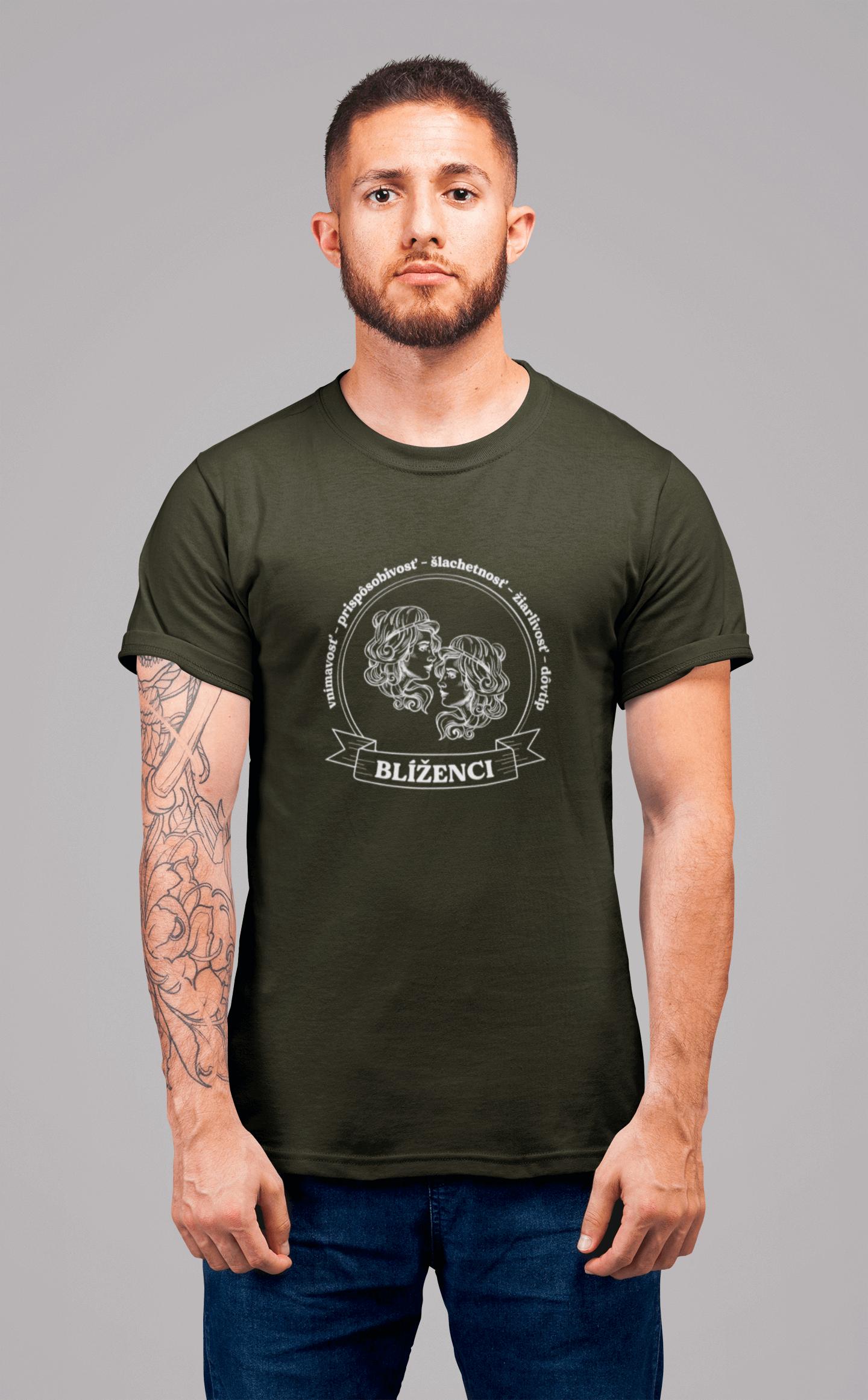 MMO Pánske tričko Blíženci Vyberte farbu: Military, Vyberte veľkosť: XS
