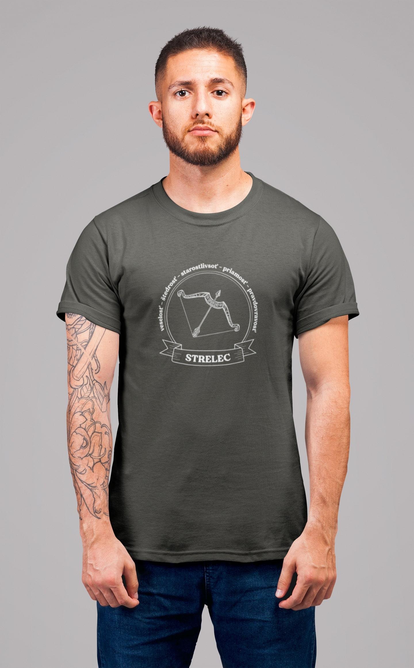 MMO Pánske tričko Strelec Vyberte farbu: Tmavá bridlica, Vyberte veľkosť: XL