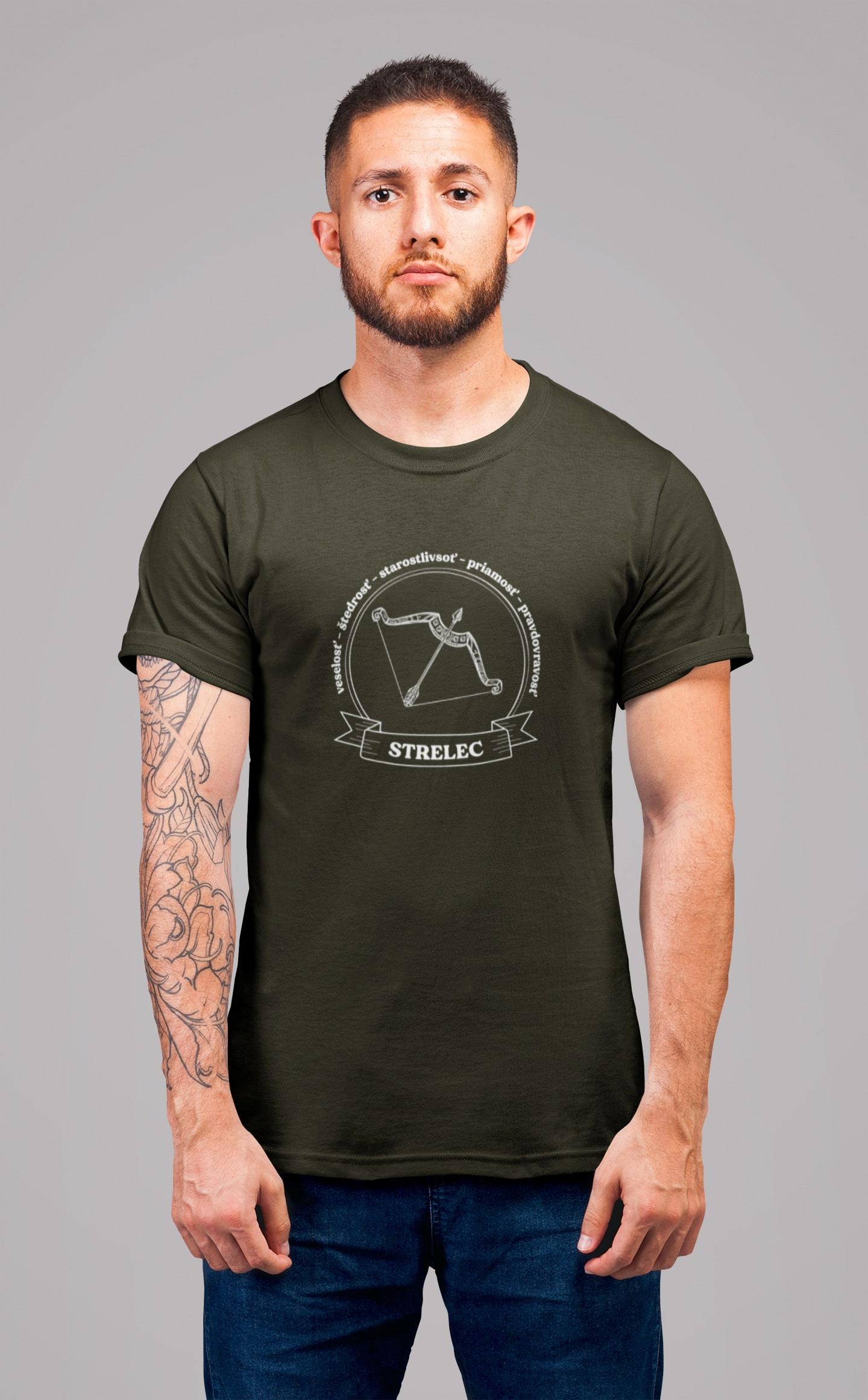 MMO Pánske tričko Strelec Vyberte farbu: Military, Vyberte veľkosť: XS
