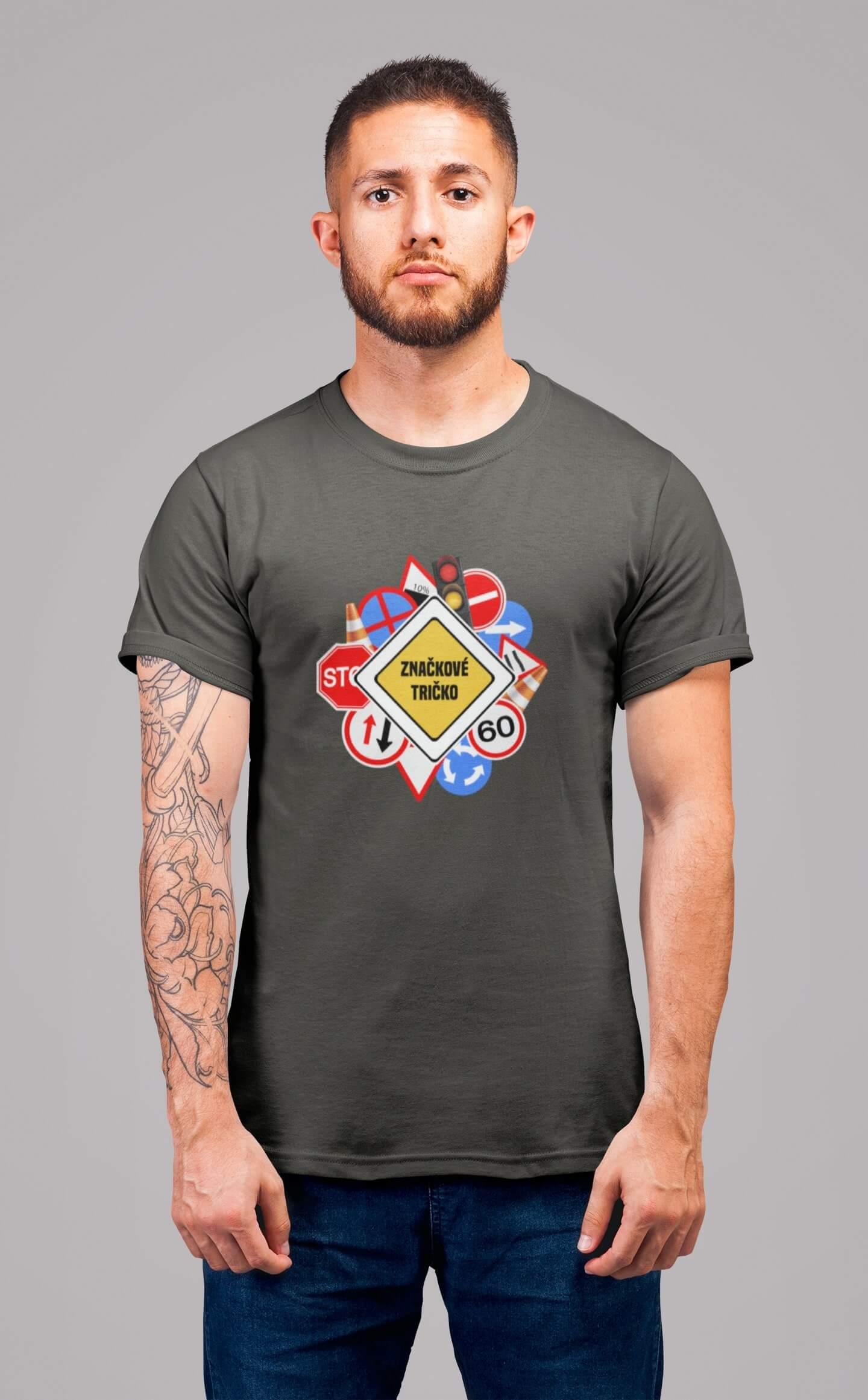 MMO Pánske tričko Značkové tričko Vyberte farbu: Tmavá bridlica, Vyberte veľkosť: XL
