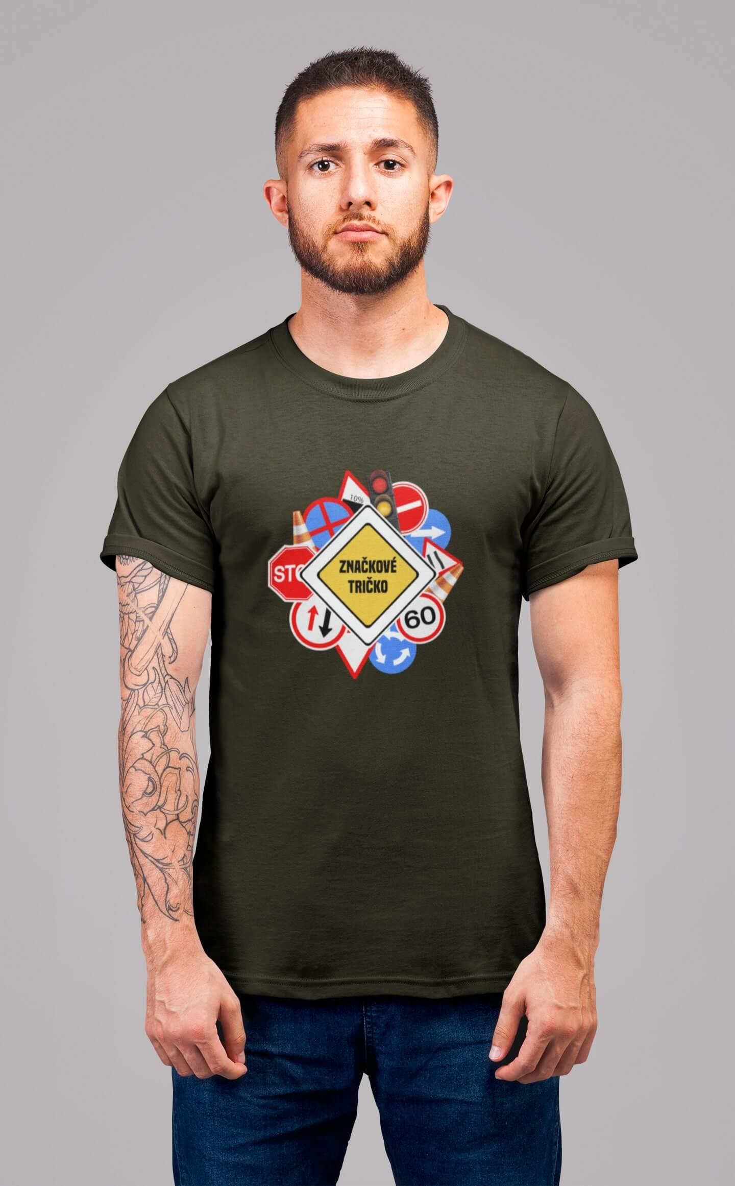MMO Pánske tričko Značkové tričko Vyberte farbu: Military, Vyberte veľkosť: XS