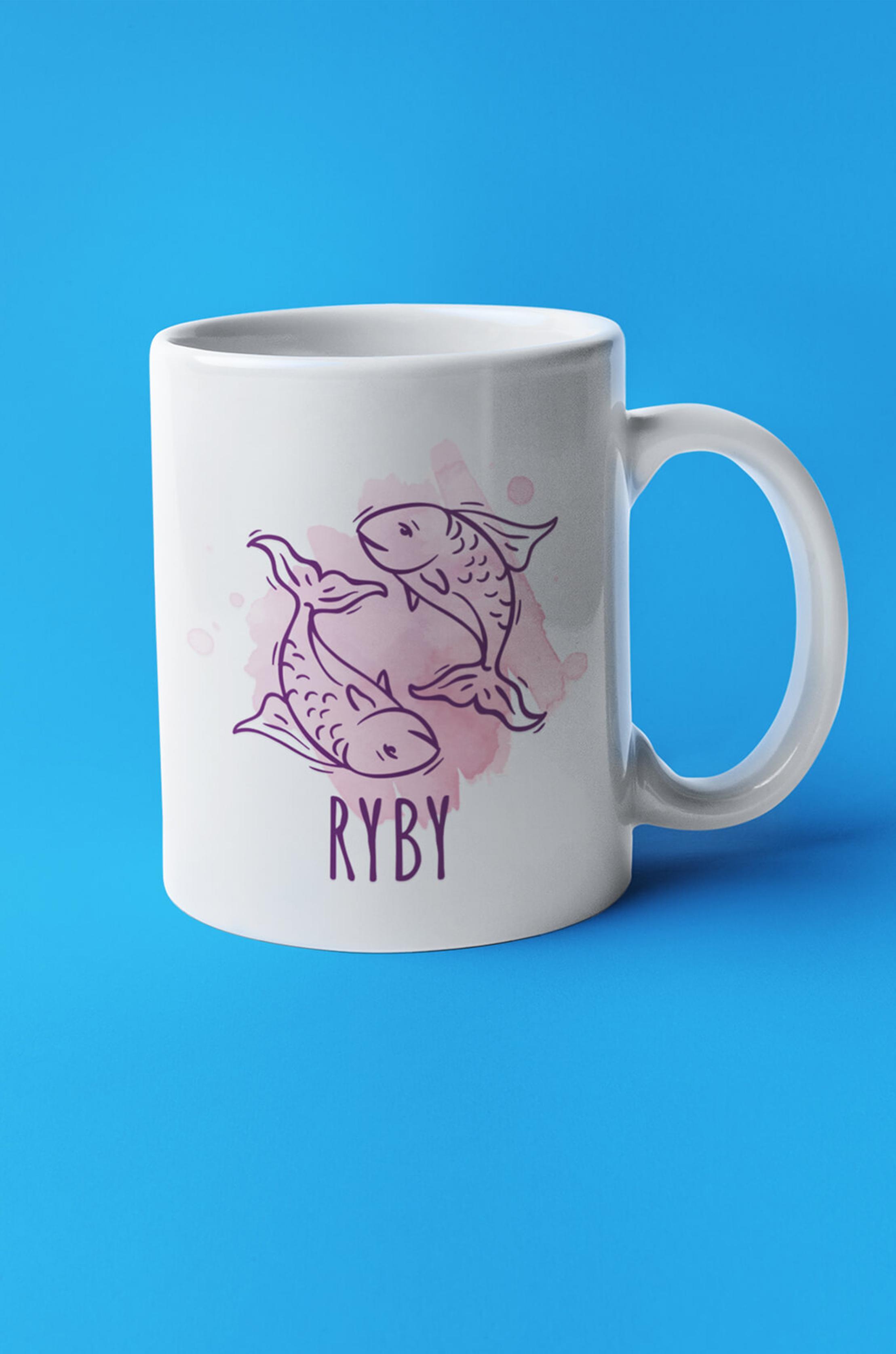 MMO Šálka so znamením Ryby Farba šálky: Biela