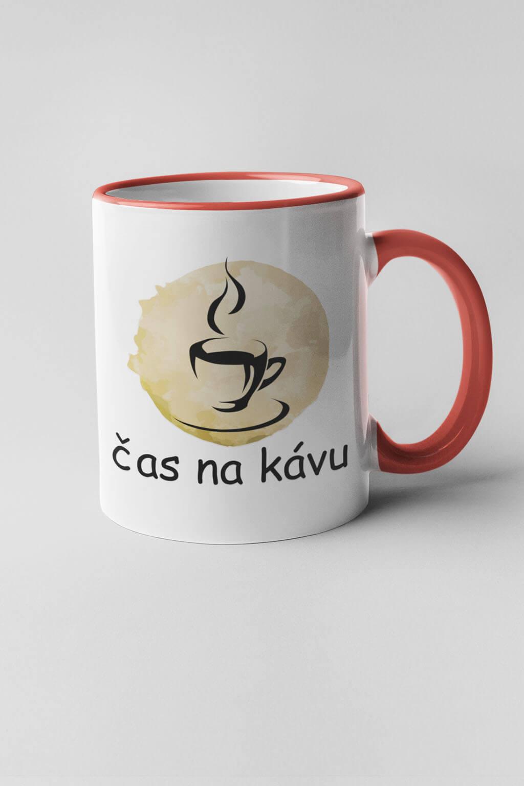 MMO Šálka čas na kávu Farba šálky: Červená