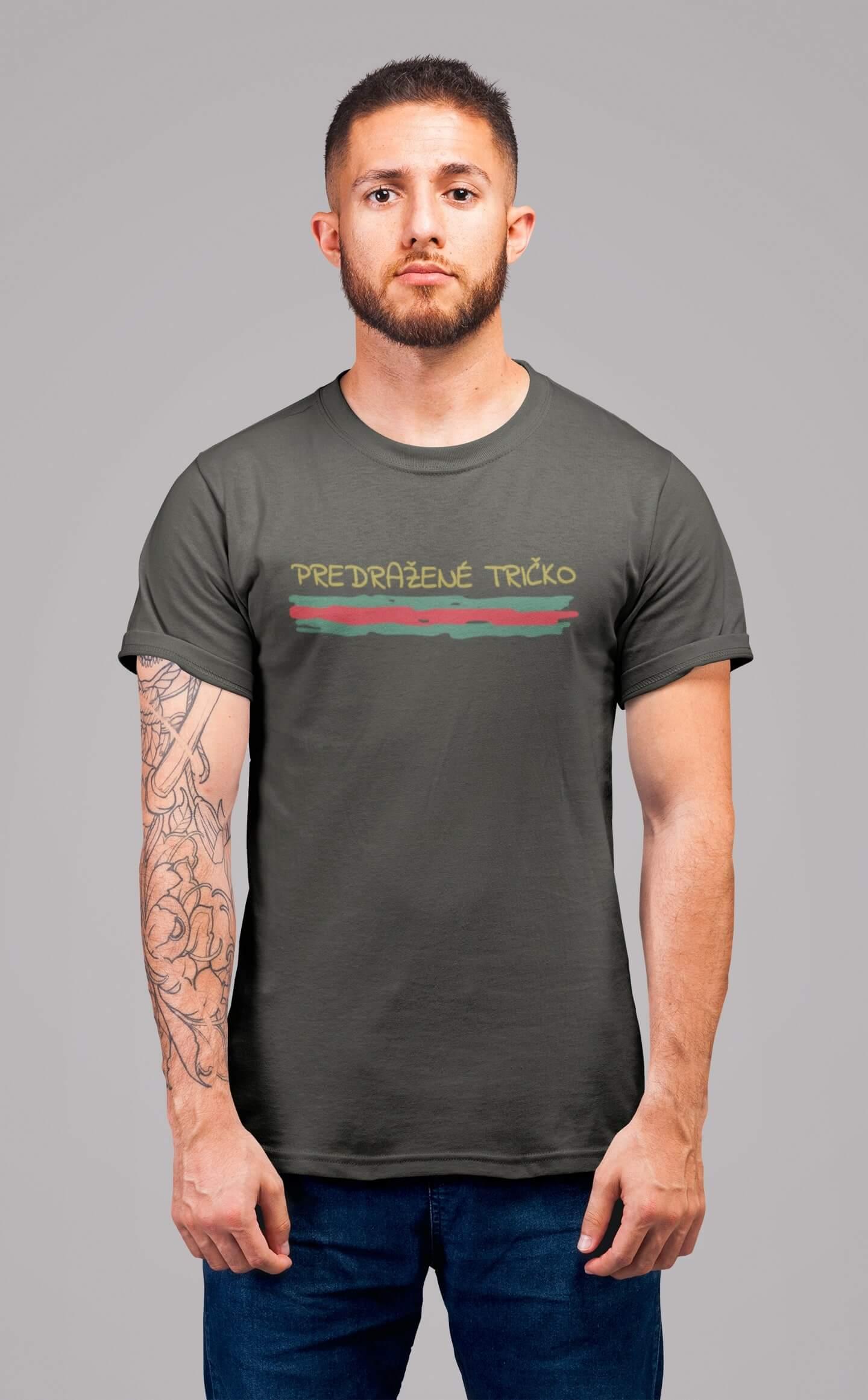 MMO Pánske tričko Predražené tričko Vyberte farbu: Tmavá bridlica, Vyberte veľkosť: XL