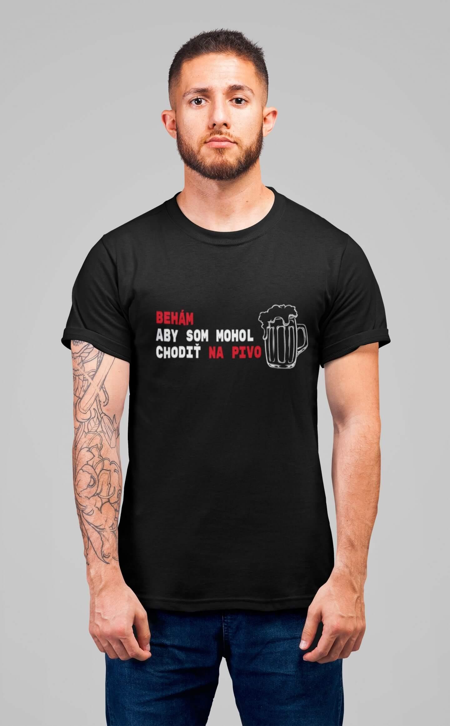 MMO Pánske tričko Behám Vyberte farbu: Čierna, Vyberte veľkosť: L