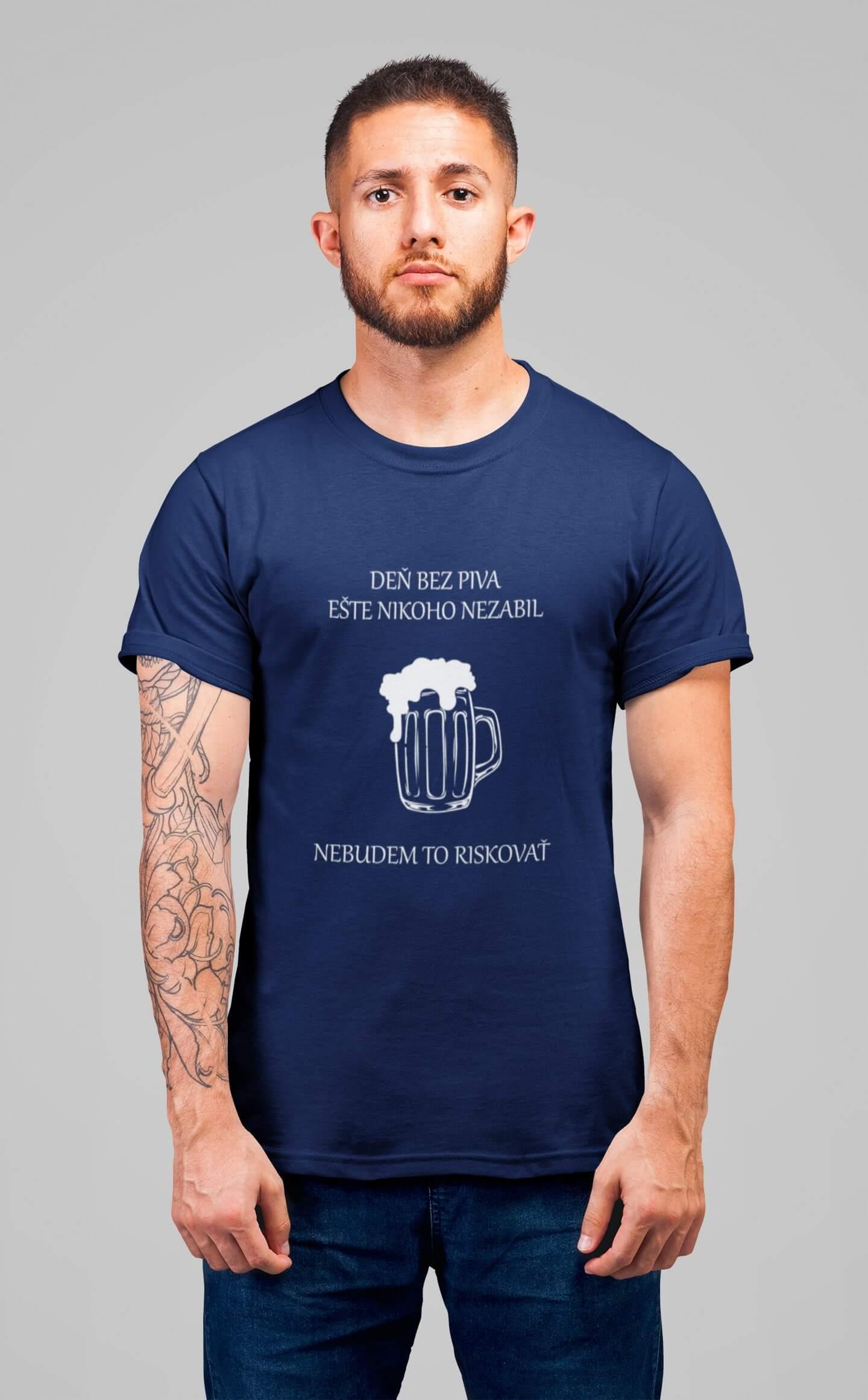 MMO Pánske tričko Deň bez piva Vyberte farbu: Kráľovská modrá, Vyberte veľkosť: XL