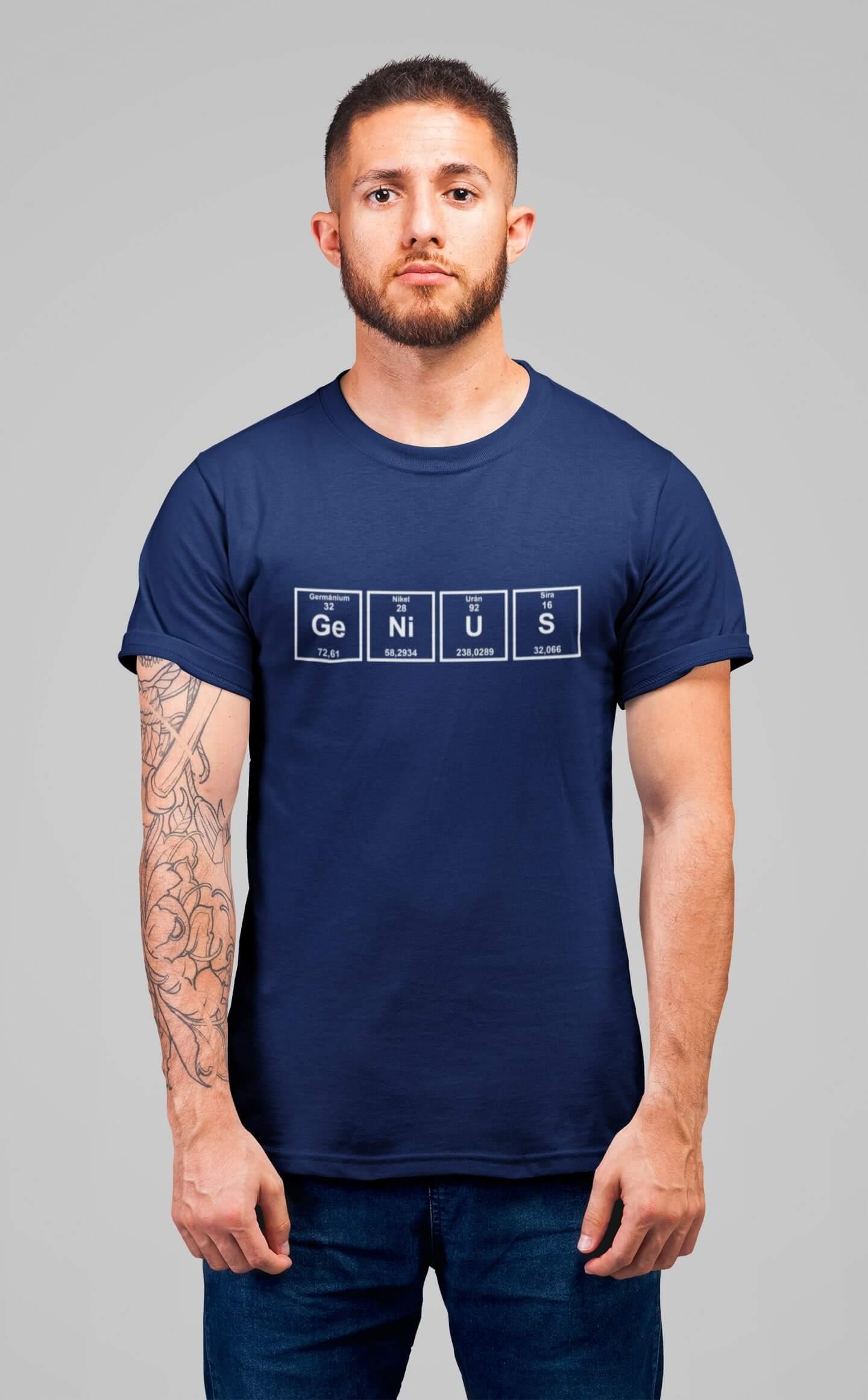MMO Pánske tričko Genius Vyberte farbu: Polnočná modrá, Vyberte veľkosť: XS