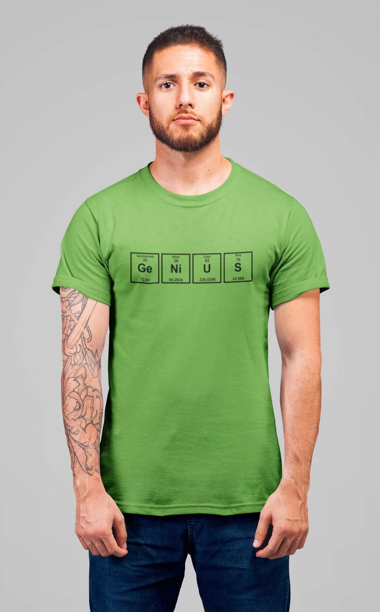 MMO Pánske tričko Genius Vyberte farbu: Hrášková zelená, Vyberte veľkosť: XS