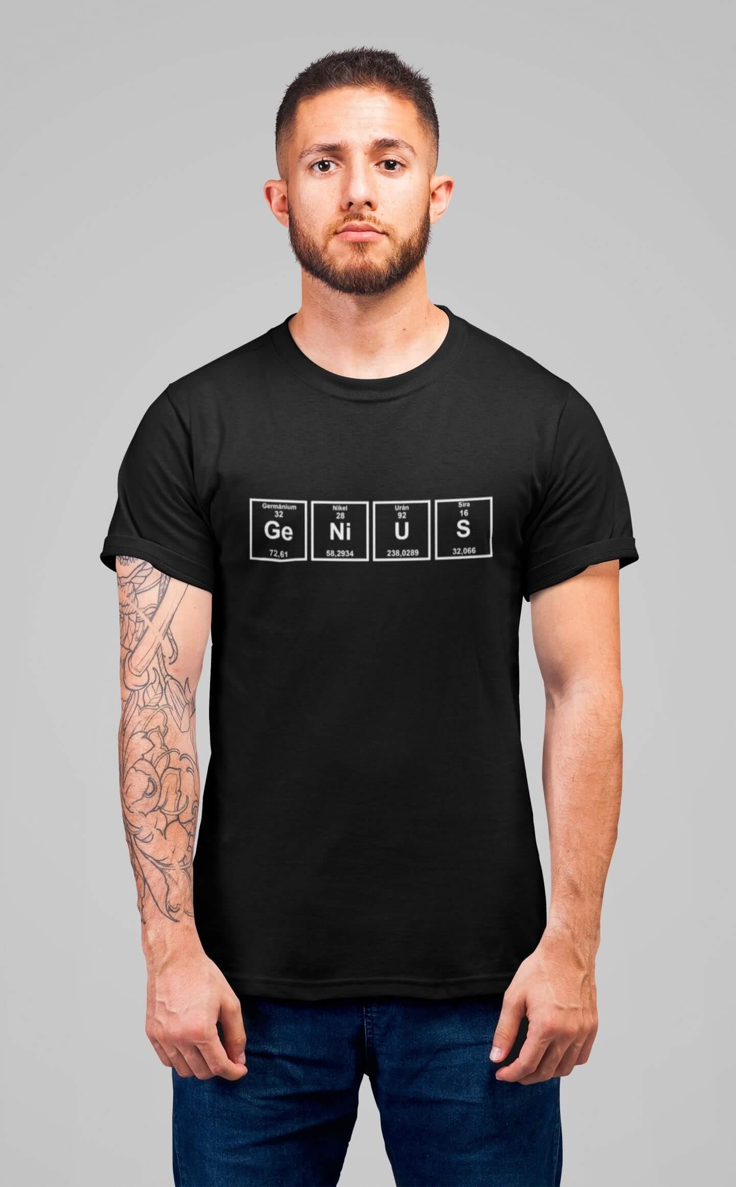 MMO Pánske tričko Genius Vyberte farbu: Čierna, Vyberte veľkosť: XS