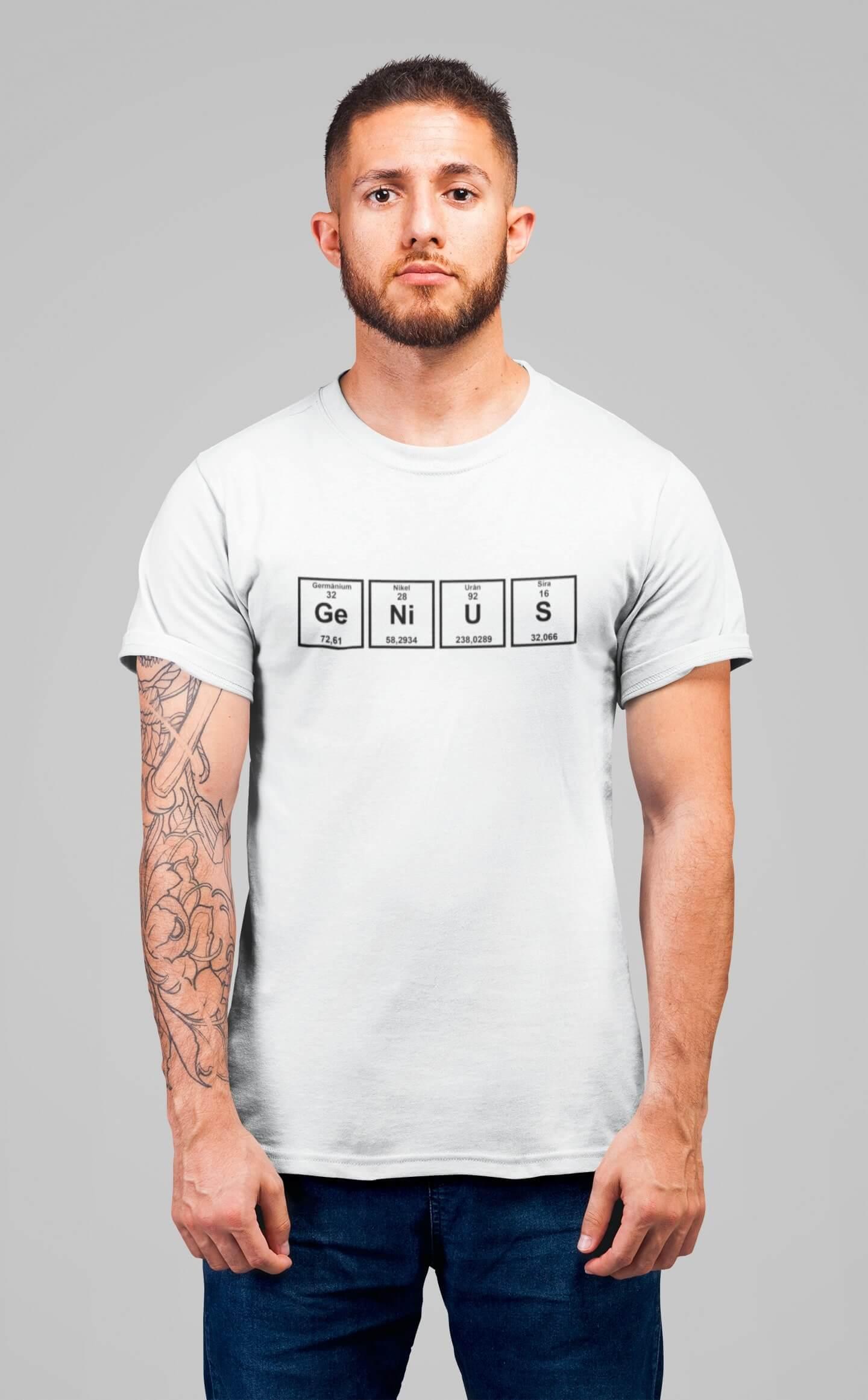 MMO Pánske tričko Genius Vyberte farbu: Biela, Vyberte veľkosť: XS