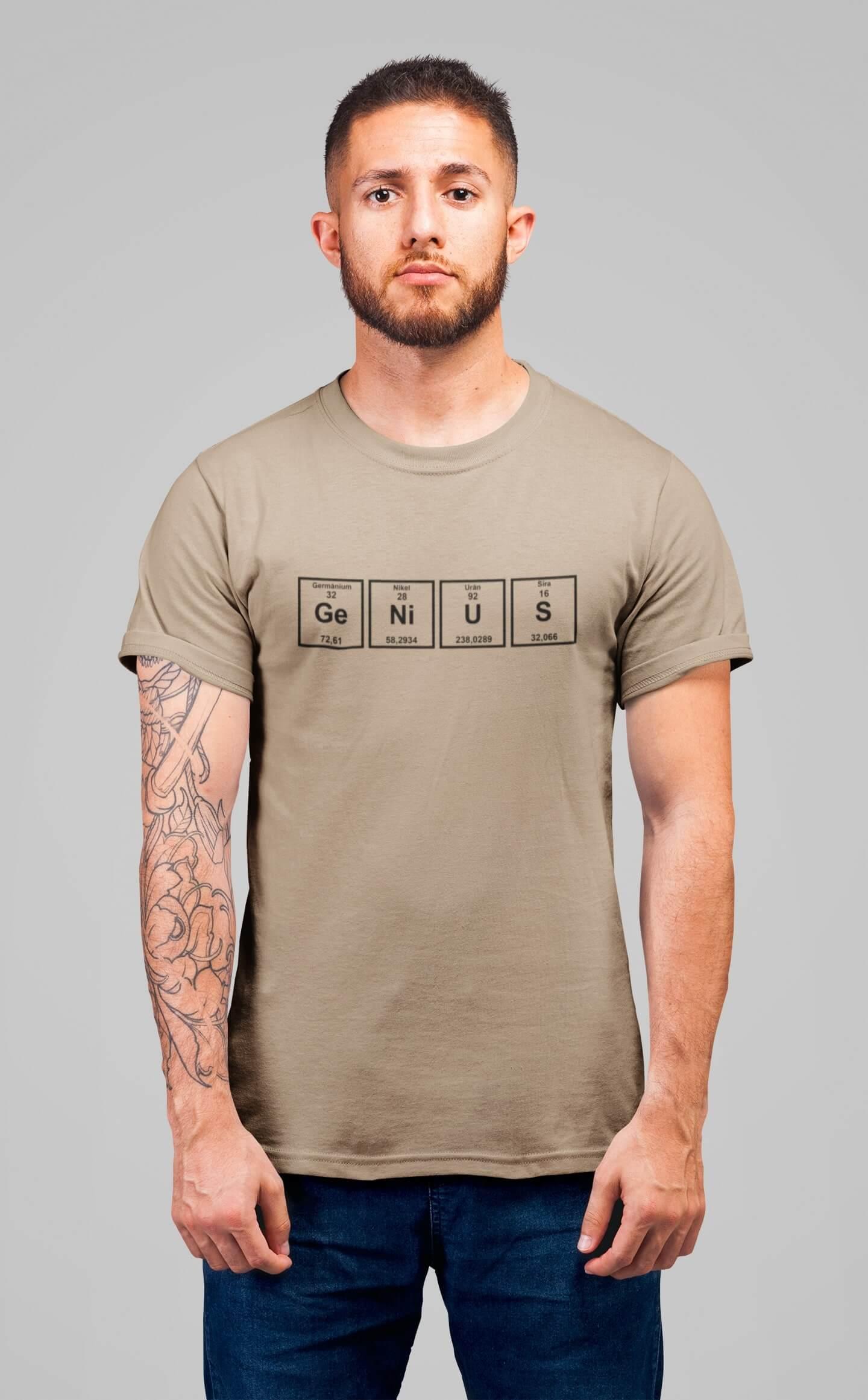 MMO Pánske tričko Genius Vyberte farbu: Piesková, Vyberte veľkosť: XS