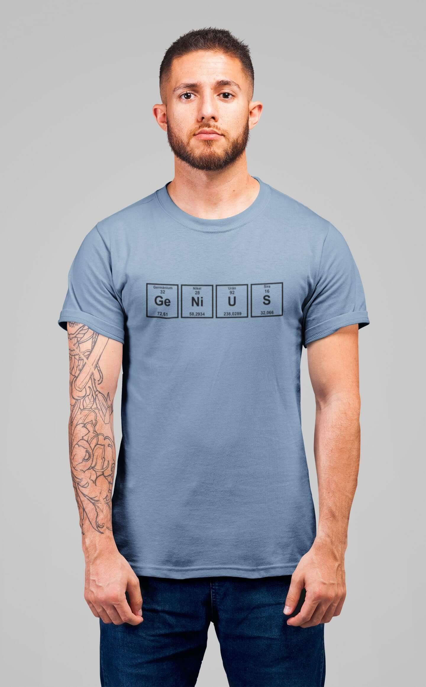 MMO Pánske tričko Genius Vyberte farbu: Nebeská modrá, Vyberte veľkosť: XS