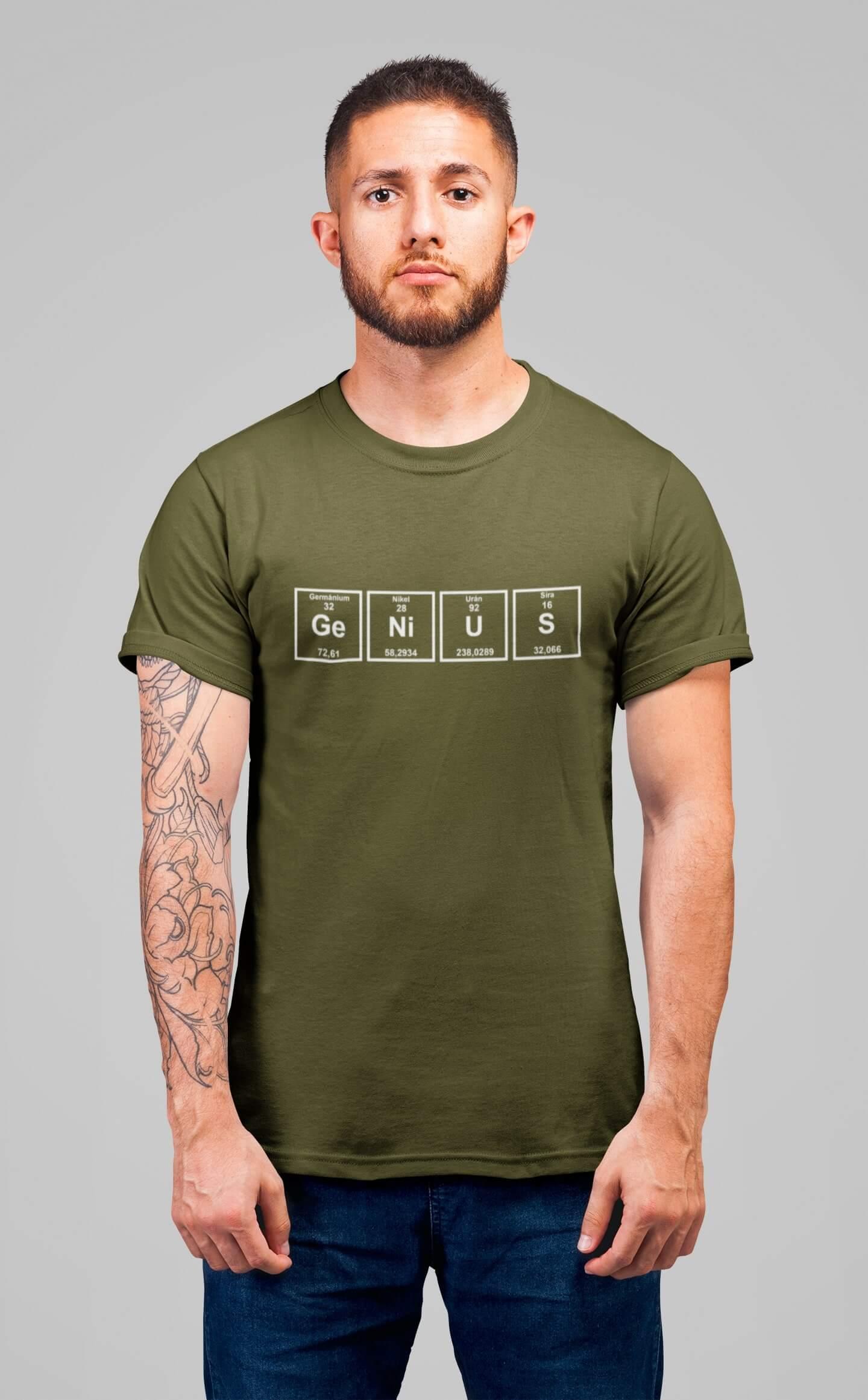 MMO Pánske tričko Genius Vyberte farbu: Khaki, Vyberte veľkosť: XS