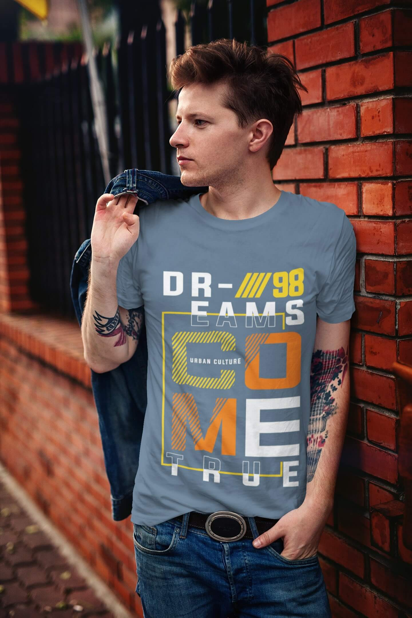 MMO Pánske tričko COME Vyberte farbu: Denim, Vyberte veľkosť: XS