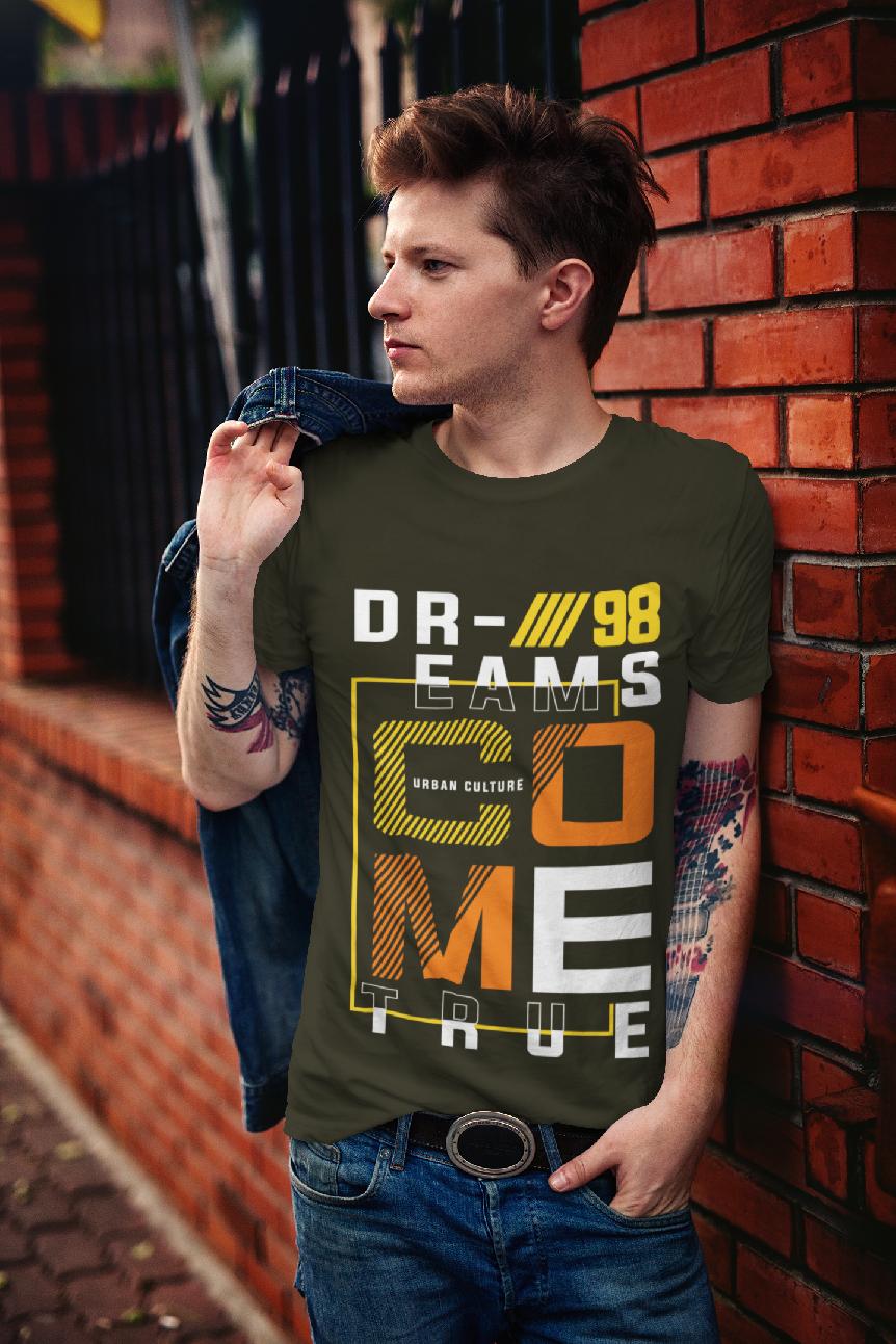 MMO Pánske tričko COME Vyberte farbu: Military, Vyberte veľkosť: XS