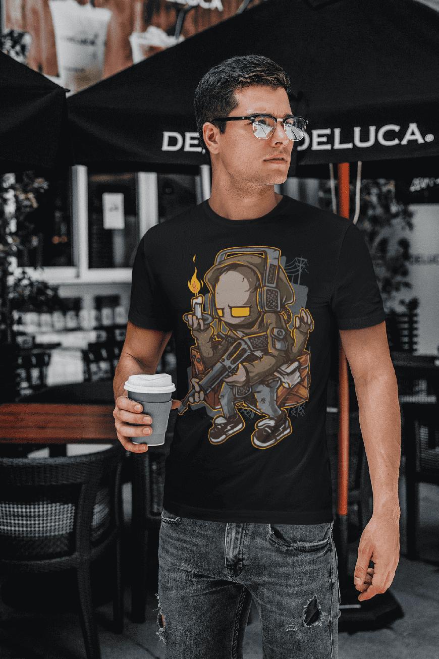 MMO Pánske tričko Chlapec so sviečkou v ruke Vyberte farbu: Čierna, Vyberte veľkosť: L