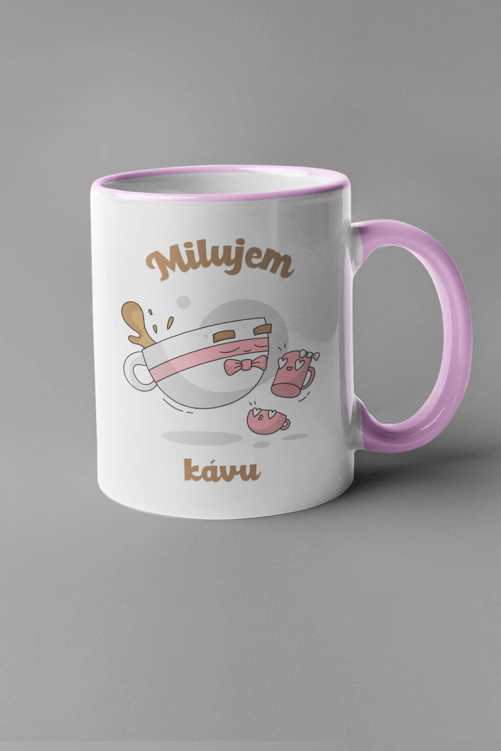 MMO Šálka milujem kávu - šálky Farba šálky: Ružová