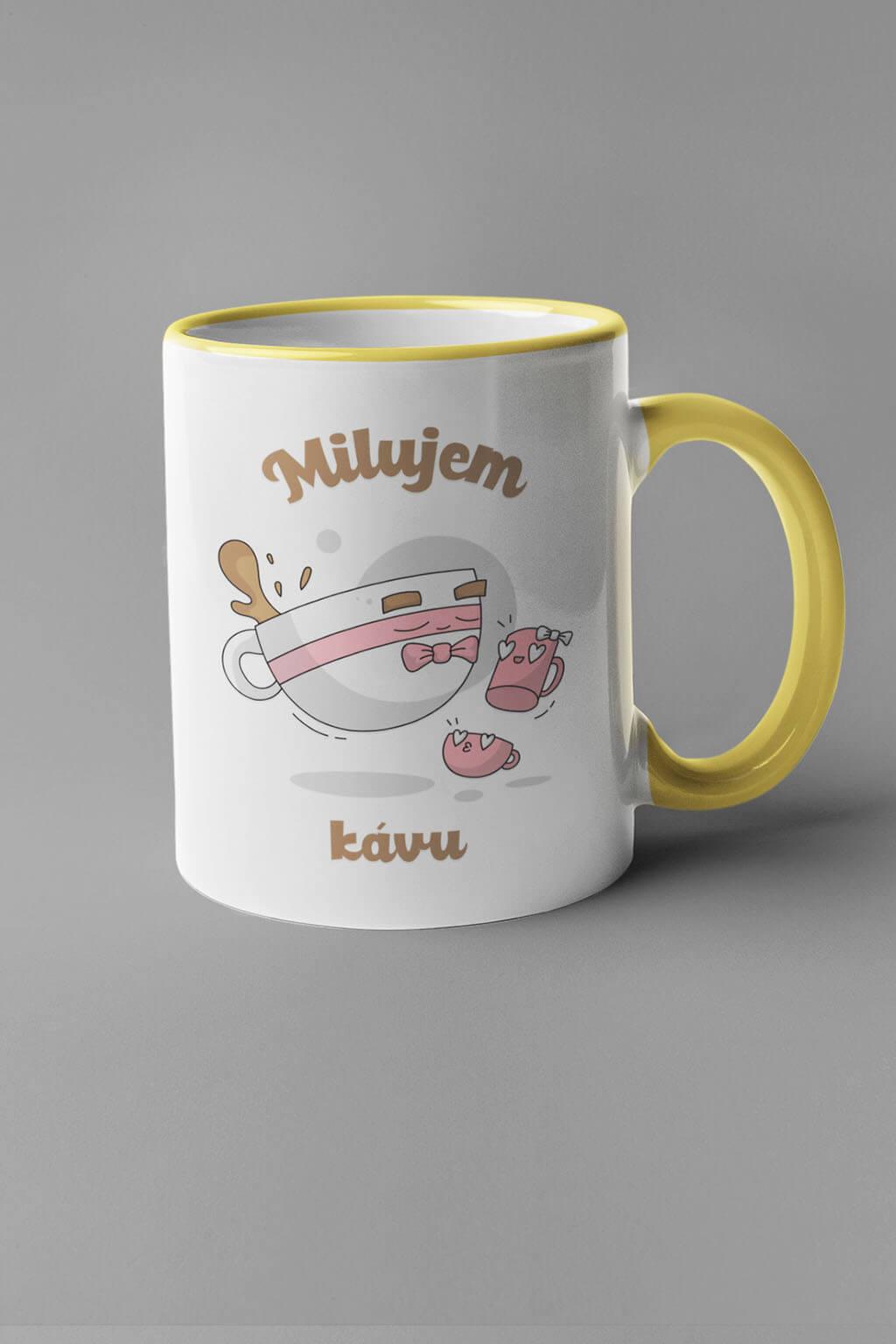 MMO Šálka milujem kávu - šálky Farba šálky: Žltá