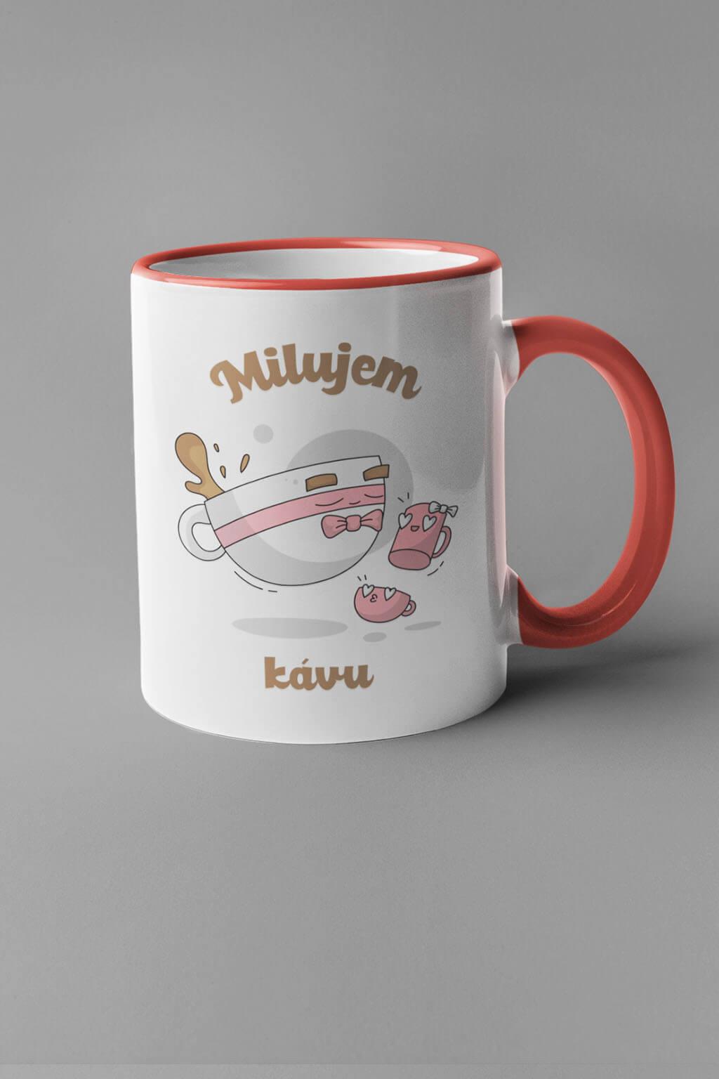 MMO Šálka milujem kávu - šálky Farba šálky: Červená